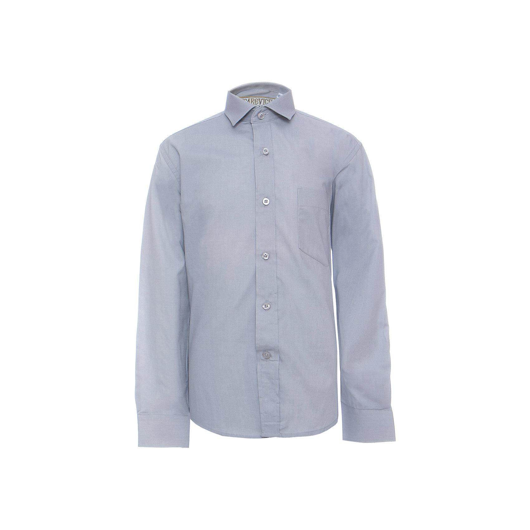 Рубашка для мальчика TsarevichБлузки и рубашки<br>Классическая рубашка - неотьемлемая вещь в гардеробе. Модель на пуговицах, с отложным воротником. Свободный покрой не стеснит движений и позволит чувствовать себя комфортно каждый день.  Состав 80 % хл. 20% П/Э<br><br>Ширина мм: 174<br>Глубина мм: 10<br>Высота мм: 169<br>Вес г: 157<br>Цвет: серый<br>Возраст от месяцев: 132<br>Возраст до месяцев: 144<br>Пол: Мужской<br>Возраст: Детский<br>Размер: 146/152,164/170,122/128,128/134,134/140,140/146,146/152,152/158,152/158,158/164<br>SKU: 4749359
