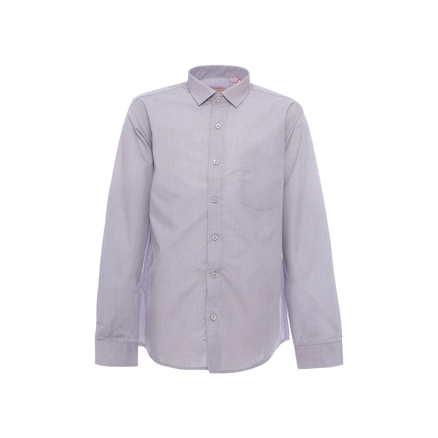Рубашка для мальчика TsarevichБлузки и рубашки<br>Классическая рубашка - неотьемлемая вещь в гардеробе. Модель на пуговицах, с отложным воротником. Свободный покрой не стеснит движений и позволит чувствовать себя комфортно каждый день.  Состав 80 % хл. 20% П/Э<br><br>Ширина мм: 174<br>Глубина мм: 10<br>Высота мм: 169<br>Вес г: 157<br>Цвет: серый<br>Возраст от месяцев: 96<br>Возраст до месяцев: 108<br>Пол: Мужской<br>Возраст: Детский<br>Размер: 128/134,152/158,158/164,164/170,122/128,134/140,140/146,146/152,146/152,152/158<br>SKU: 4749370