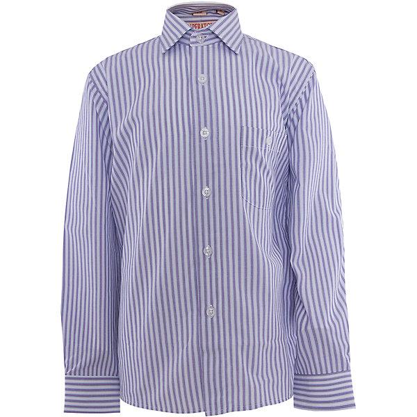 Рубашка для мальчика ImperatorБлузки и рубашки<br>Классическая рубашка - неотьемлемая вещь в гардеробе. Модель на пуговицах, с отложным воротником. Свободный покрой не стеснит движений и позволит чувствовать себя комфортно каждый день.  Состав 65 % хл. 35% П/Э<br><br>Ширина мм: 174<br>Глубина мм: 10<br>Высота мм: 169<br>Вес г: 157<br>Цвет: лиловый<br>Возраст от месяцев: 144<br>Возраст до месяцев: 156<br>Пол: Мужской<br>Возраст: Детский<br>Размер: 152/158,122/128,128/134,134/140,140/146,146/152,158/164,164/170<br>SKU: 4749381