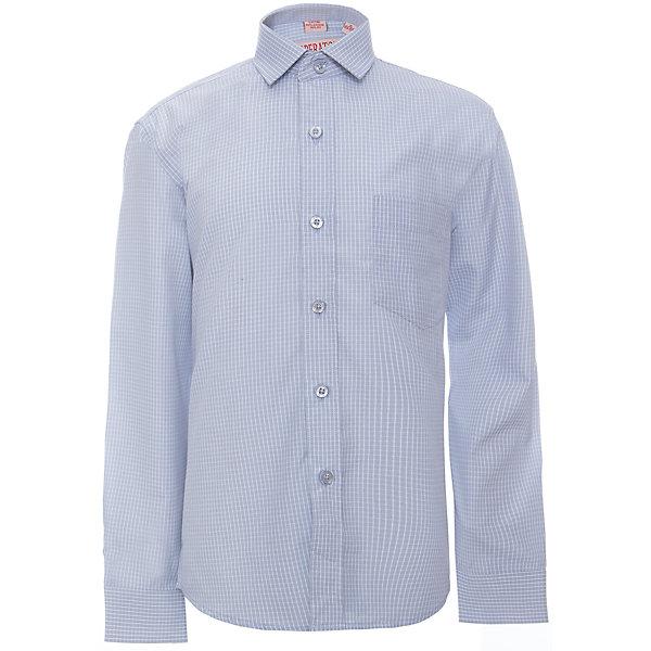 Рубашка для мальчика ImperatorБлузки и рубашки<br>Классическая рубашка - неотьемлемая вещь в гардеробе. Модель на пуговицах, с отложным воротником. Свободный покрой не стеснит движений и позволит чувствовать себя комфортно каждый день.  Состав 65 % хл. 35% П/Э<br><br>Ширина мм: 174<br>Глубина мм: 10<br>Высота мм: 169<br>Вес г: 157<br>Цвет: голубой<br>Возраст от месяцев: 132<br>Возраст до месяцев: 144<br>Пол: Мужской<br>Возраст: Детский<br>Размер: 146/152,140/146,134/140,128/134,122/128,164/170,158/164,152/158<br>SKU: 4749425
