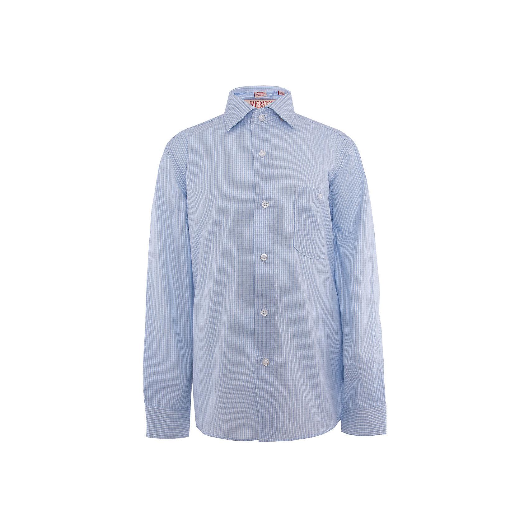 Рубашка для мальчика ImperatorБлузки и рубашки<br>Классическая рубашка - неотьемлемая вещь в гардеробе. Модель на пуговицах, с отложным воротником. Свободный покрой не стеснит движений и позволит чувствовать себя комфортно каждый день.  Состав 65 % хл. 35% П/Э<br><br>Ширина мм: 174<br>Глубина мм: 10<br>Высота мм: 169<br>Вес г: 157<br>Цвет: голубой<br>Возраст от месяцев: 120<br>Возраст до месяцев: 132<br>Пол: Мужской<br>Возраст: Детский<br>Размер: 140/146,164/170,122/128,128/134,134/140,146/152,152/158,152/158,158/164<br>SKU: 4749447