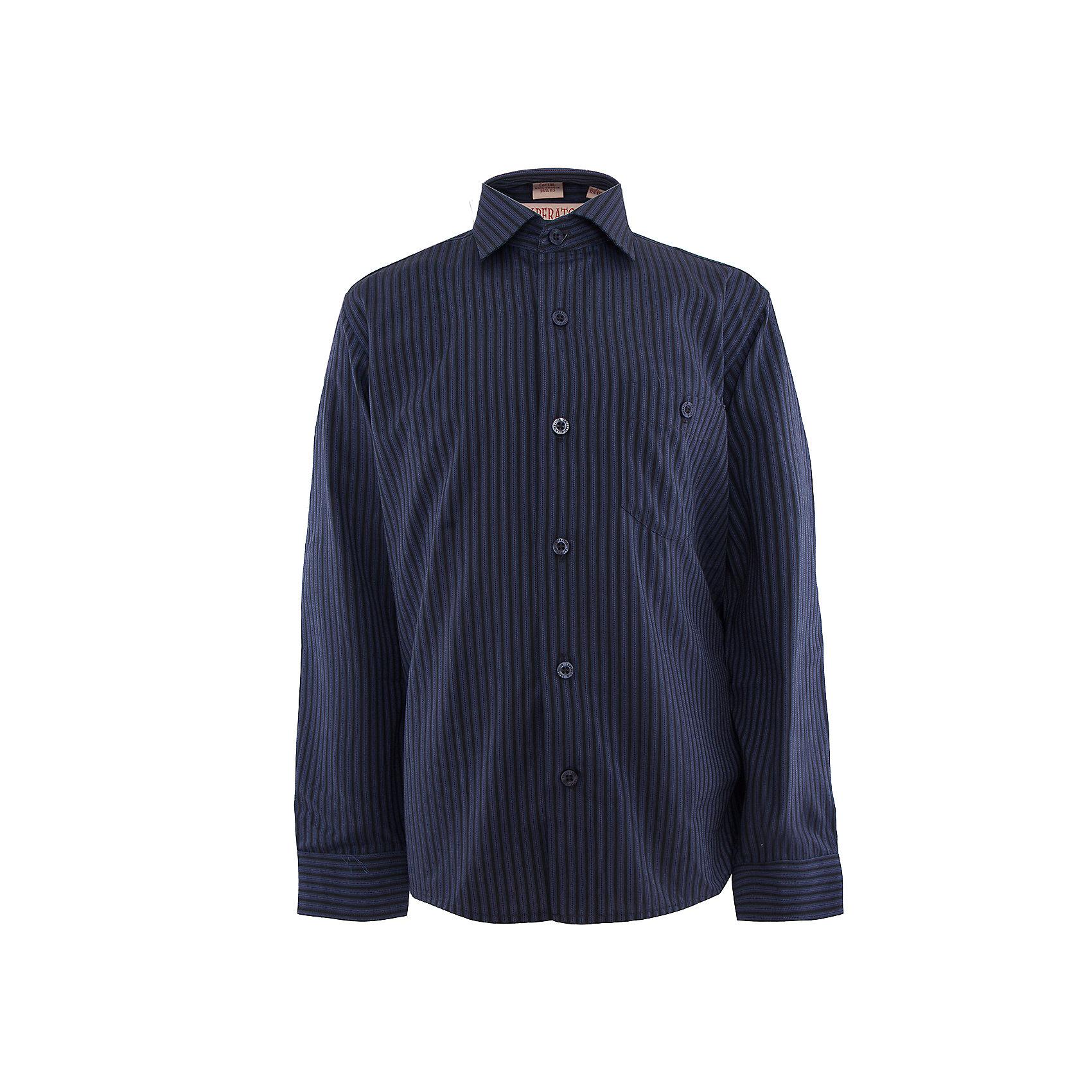 Рубашка для мальчика ImperatorБлузки и рубашки<br>Классическая рубашка - неотьемлемая вещь в гардеробе. Модель на пуговицах, с отложным воротником. Свободный покрой не стеснит движений и позволит чувствовать себя комфортно каждый день.  Состав 65 % хл. 35% П/Э<br><br>Ширина мм: 174<br>Глубина мм: 10<br>Высота мм: 169<br>Вес г: 157<br>Цвет: синий<br>Возраст от месяцев: 168<br>Возраст до месяцев: 180<br>Пол: Мужской<br>Возраст: Детский<br>Размер: 134/140,140/146,146/152,146/152,152/158,152/158,158/164,164/170,122/128,128/134<br>SKU: 4749458