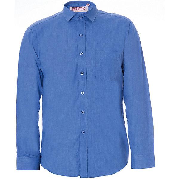 Рубашка для мальчика ImperatorБлузки и рубашки<br>Классическая рубашка - неотьемлемая вещь в гардеробе. Модель на пуговицах, с отложным воротником. Свободный покрой не стеснит движений и позволит чувствовать себя комфортно каждый день.  Состав 55 % хл. 45% П/Э<br>Ширина мм: 174; Глубина мм: 10; Высота мм: 169; Вес г: 157; Цвет: голубой; Возраст от месяцев: 156; Возраст до месяцев: 168; Пол: Мужской; Возраст: Детский; Размер: 158/164,122/128,164/170,152/158,146/152,140/146,134/140,128/134; SKU: 4749480;