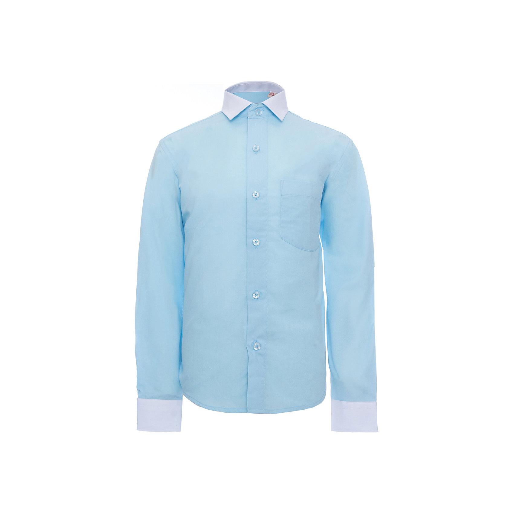 Рубашка для мальчика ImperatorБлузки и рубашки<br>Классическая рубашка - неотьемлемая вещь в гардеробе. Модель на пуговицах, с отложным воротником. Свободный покрой не стеснит движений и позволит чувствовать себя комфортно каждый день.  Состав 55 % хл. 45% П/Э<br><br>Ширина мм: 174<br>Глубина мм: 10<br>Высота мм: 169<br>Вес г: 157<br>Цвет: голубой<br>Возраст от месяцев: 84<br>Возраст до месяцев: 96<br>Пол: Мужской<br>Возраст: Детский<br>Размер: 122/128,164/170,128/134,134/140,140/146,146/152,152/158,152/158,158/164<br>SKU: 4749513