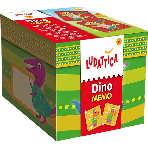 LUDATTICA Игра-мемори «ДИНОЗАВРЫ»Игры мемо<br>Характеристики:<br><br>• размер: 12,5х12,0х12,0 см.;<br>• упаковка: коробка картон;<br>• материал: картон;<br>• вес: 618г.;<br>• для детей в возрасте: от 3 лет;<br>• страна производитель: Италия;<br><br>Настольная игра «Мемори.Динозавры» Ludattica (Лудаттика) разработана в Центре Исследований и Разработки Lisciani (Лициани) станет хорошим подарком для девочек и мальчишек.<br><br>Развивающая игра доступный способ восприятия информации для детей. В игровой форме с динозавриками, изображёнными на карточках ребёнок узнает много нового.<br><br>Игра включает в себя сорок карточек, из которых надо собрать как можно больше пар. В ней могут принимать участие все члены семьи.<br>Играя с карточками дети развивают логику, зрительную память, внимательность, фантазию, усидчивость, просто весело и с пользой проведут время.<br><br>Настольная игра «Мемори.Динозавры» Ludattica (Лудаттика) можно купить в нашем интернет-магазине.<br>Ширина мм: 127; Глубина мм: 131; Высота мм: 126; Вес г: 605; Возраст от месяцев: 36; Возраст до месяцев: 60; Пол: Унисекс; Возраст: Детский; SKU: 4751212;