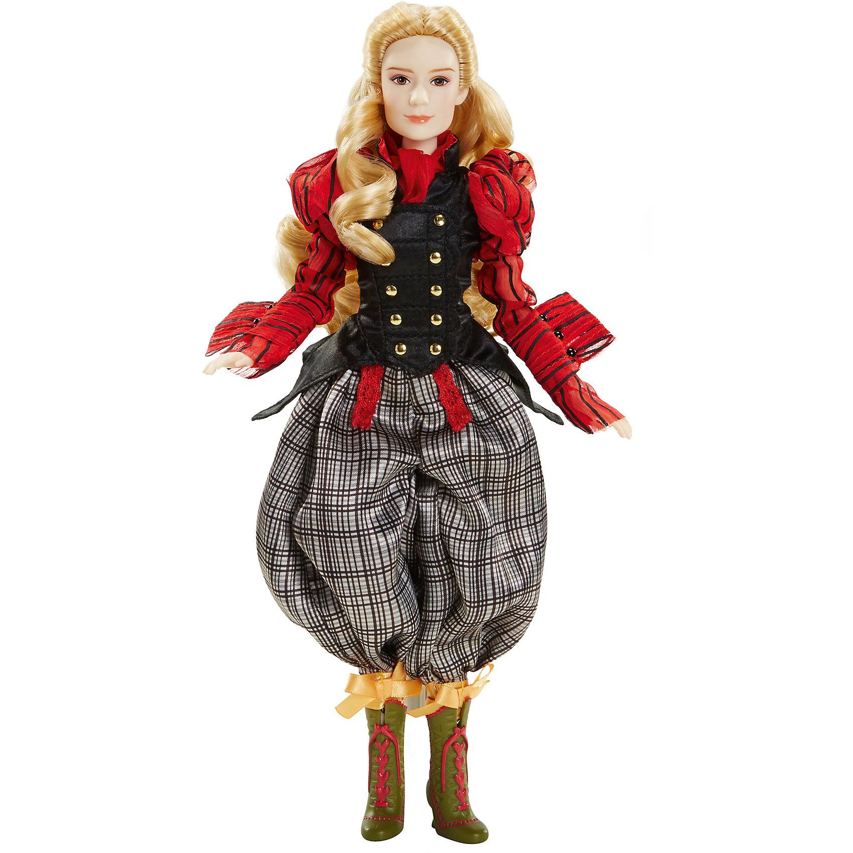 Классическая кукла Алиса, Алиса в ЗазеркальеИгрушки<br>Классическая кукла Алиса в стране чудес – эта кукла, имеющая огромное сходство с героиней фильма.<br>Кукла в образе Алисы, главной героини фильма «Алиса в Зазеркалье» очень похожа на актрису Миа Васиковска, которая сыграла эту роль в киноленте. Костюм куклы несколько отличается от классического изображения, однако это делает игру лишь интересней. Кукла одета в красную рубашку, черную жилетку и клетчатые брюки, на ногах – ботинки на шнуровке. Белокурая героиня с легкостью погрузит вашего ребенка в мир фантазий и сказок, в которых она вместе с ним отправиться в гости к Шляпнику или встретиться с мудрой гусеницей, а может быть, они вместе придумают новый сюжет старой волшебной истории.<br><br>Дополнительная информация:<br><br>- Высота: 29 см.<br>- Материал: пластик, текстиль<br><br>Классическую куклу Алиса в стране чудес можно купить в нашем интернет-магазине.<br><br>Ширина мм: 18<br>Глубина мм: 80<br>Высота мм: 360<br>Вес г: 450<br>Возраст от месяцев: 36<br>Возраст до месяцев: 1188<br>Пол: Женский<br>Возраст: Детский<br>SKU: 4751312