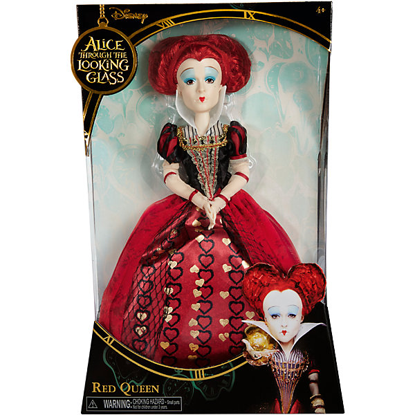Коллекционная  кукла Красная  Королева, Алиса в ЗазеркальеИгрушки<br>Коллекционная  кукла Красная  Королева – эта кукла, имеющая огромное сходство с героиней фильма станет украшением коллекции.<br>Коллекционная кукла в образе Красной королевы, одной из главных злодеек фильма «Алиса в Зазеркалье» очень похожа на актрису Хелену Бонэм Картер, которая сыграла эту роль в киноленте. Кукла выполнена с максимальной детализацией наряда, внешности и прически актрисы. Она одета в классическое платье «красные сердца», прическа у куклы также в виде сердца. И, конечно же, культовый макияж Красной королевы! Голова, руки и ноги у куклы вращаются. Руки сгибаются в районе локтей, благодаря встроенным шарнирам.<br><br>Дополнительная информация:<br><br>- Высота: 29 см.<br>- Материал: пластик, текстиль<br><br>Коллекционную  куклу Красная  Королева можно купить в нашем интернет-магазине.<br>Ширина мм: 23; Глубина мм: 80; Высота мм: 360; Вес г: 570; Возраст от месяцев: 36; Возраст до месяцев: 1188; Пол: Женский; Возраст: Детский; SKU: 4751313;