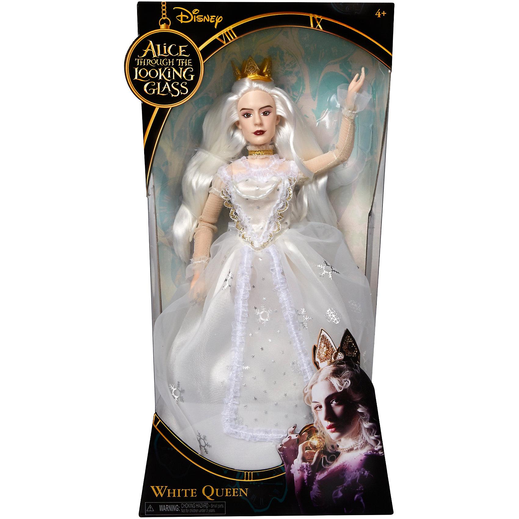 Классическая кукла Белая Королева, Алиса в ЗазеркальеКлассическая кукла Белая Королева – эта кукла, имеющая огромное сходство с героиней фильма.<br>Кукла в образе Белой королевы, героини фильма «Алиса в Зазеркалье» очень похожа на актрису Энн Хэтэуэй, которая сыграла эту роль в киноленте. Кукла одета в платье из белой и серебряной фольги с жемчугом. Дополнительные аксессуары корона, кружева и колье добавляют кукле оригинальности и изящества. Длинные белые волосы уложены в фирменную прическу из фильма. Голова, руки и ноги у куклы вращаются. Руки сгибаются в районе локтей, благодаря встроенным шарнирам.<br><br>Дополнительная информация:<br><br>- Высота: 29 см.<br>- Материал: пластик, текстиль<br><br>Классическую куклу Белая Королева можно купить в нашем интернет-магазине.<br><br>Ширина мм: 18<br>Глубина мм: 80<br>Высота мм: 360<br>Вес г: 450<br>Возраст от месяцев: 36<br>Возраст до месяцев: 1188<br>Пол: Женский<br>Возраст: Детский<br>SKU: 4751314