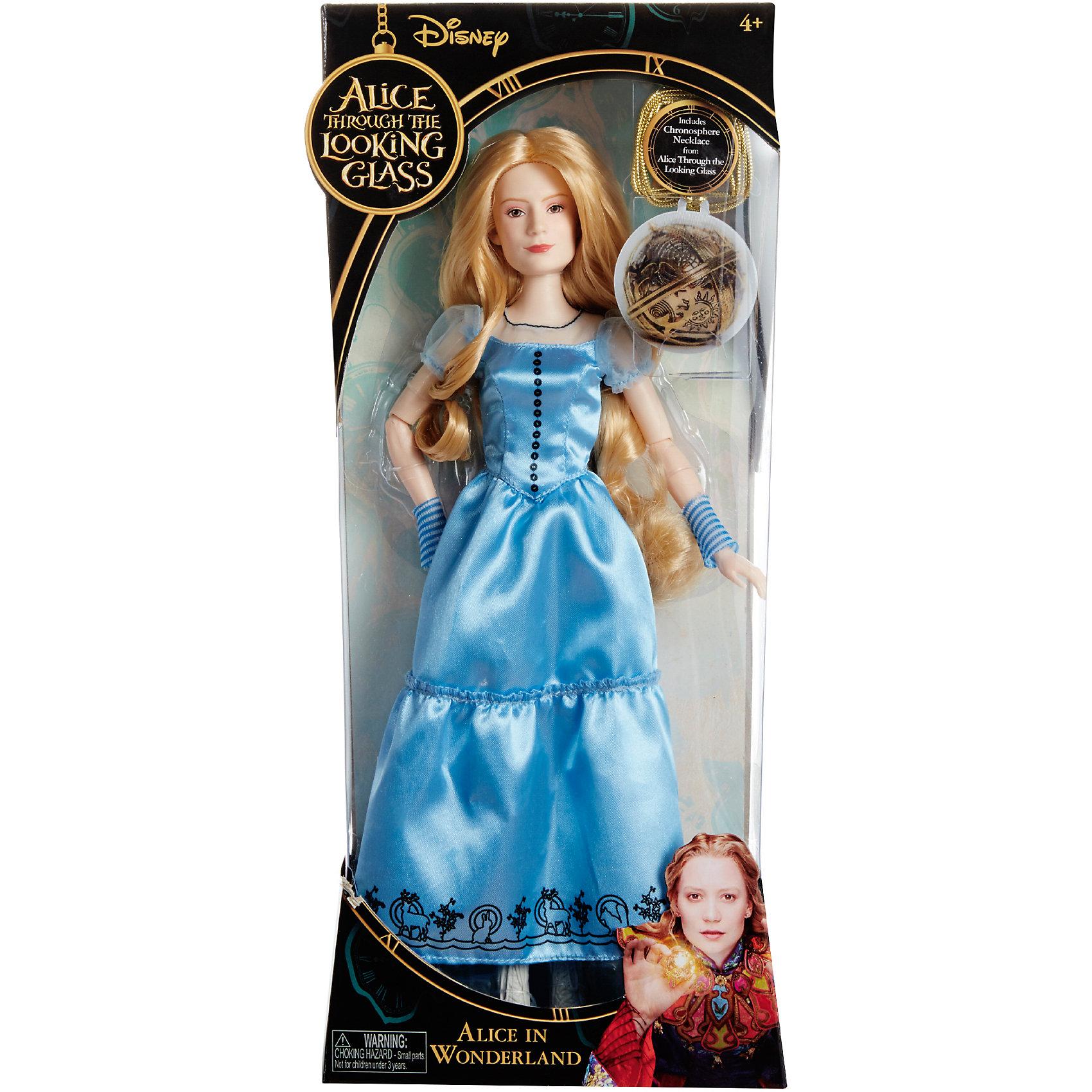 Базовая кукла Алиса, Алиса в ЗазеркальеИгрушки<br>Базовая кукла Алиса в стране чудес - эта кукла, имеющая огромное сходство с героиней фильма.<br>Кукла в образе Алисы, главной героини фильма «Алиса в Зазеркалье» очень похожа на актрису Миа Васиковска, которая сыграла эту роль в киноленте. Белокурая красавица одета в синее платье. Голова, руки и ноги у куклы вращаются. Руки сгибаются в районе локтей, благодаря встроенным шарнирам. В набор входит также линзовидная Хромосфера - мистическое устройство для приключений во времени.. Кукла Алиса подарит море положительных эмоций и заставит вас улыбнуться. Присоединяйтесь к Алисе с ее причудливой и дикой поездке в Подземелье, где все иначе, чем кажется.<br><br>Дополнительная информация:<br><br>- В комплекте: кукла, хромосфера<br>- Высота: 29 см.<br>- Материал: пластик, текстиль<br><br>Базовую куклу Алиса в стране чудес можно купить в нашем интернет-магазине.<br><br>Ширина мм: 16<br>Глубина мм: 70<br>Высота мм: 360<br>Вес г: 390<br>Возраст от месяцев: 36<br>Возраст до месяцев: 1188<br>Пол: Женский<br>Возраст: Детский<br>SKU: 4751316