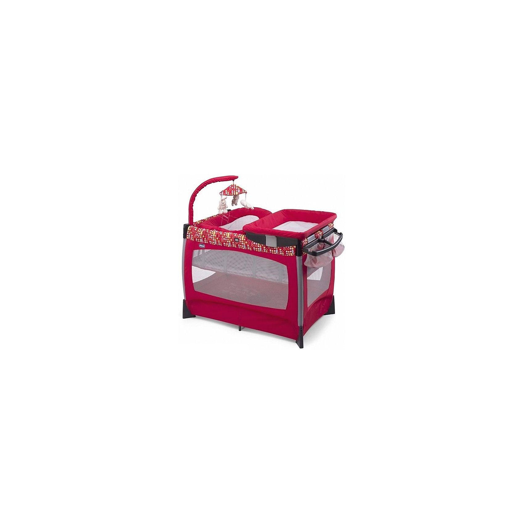 Кровать-манеж LULLABY, CHICCO, raceКровать-манеж Chicco Lullaby-  практичная, удобная и комфортная, легко собирается и разбирается. Включает в себя различные аксессуары для ухода за малышом, а очаровательные подвесные игрушки обязательно привлекут внимание ребёнка и развлекут его!<br>При необходимости манеж можно взять с собой, для этого в комплект входит сумка для переноски. Также в комплект входит матрасик, органайзер и пеленальная доска. Кровать-манеж Chicco Lullaby - создана специально  для безопасного и спокойного сна.<br><br>Особенности:<br>- В комплект входит ряд аксессуаров для сна, игры, пеленания и отдыха.<br>- Возрастная группа: от рождения до 3 лет.<br>- Легкая удобная система складывания<br>- Жесткое днище.<br>- Двойная система защиты, предотвращающая случайное складывание.<br>- Сетчатые стенки манежа для свободной циркуляции воздуха.<br>- Съемный матрасик с карманами для фанерных досок.<br>- Навесная колыбель от 0 до 6 месяцев (весом до 8 кг.)<br>- Рама с 3 съемными мягкими игрушками.<br>- Электронная система для убаюкивания малыша на ДУ.<br>- Компактная сумка для хранения и перевозки кроватки.<br><br>Дополнительная информация:<br><br>- Цвет: Race.<br>- Размер: 106х83х71 см.<br>- Размер упаковки: 105 x 55 x 35 см.<br>- Вес в упаковке: 17 кг. <br><br>Купить кровать-манеж LULLABY CHICCO в цвете  Race, можно в нашем магазине.<br><br>Ширина мм: 356<br>Глубина мм: 260<br>Высота мм: 860<br>Вес г: 17000<br>Возраст от месяцев: 0<br>Возраст до месяцев: 36<br>Пол: Унисекс<br>Возраст: Детский<br>SKU: 4751876