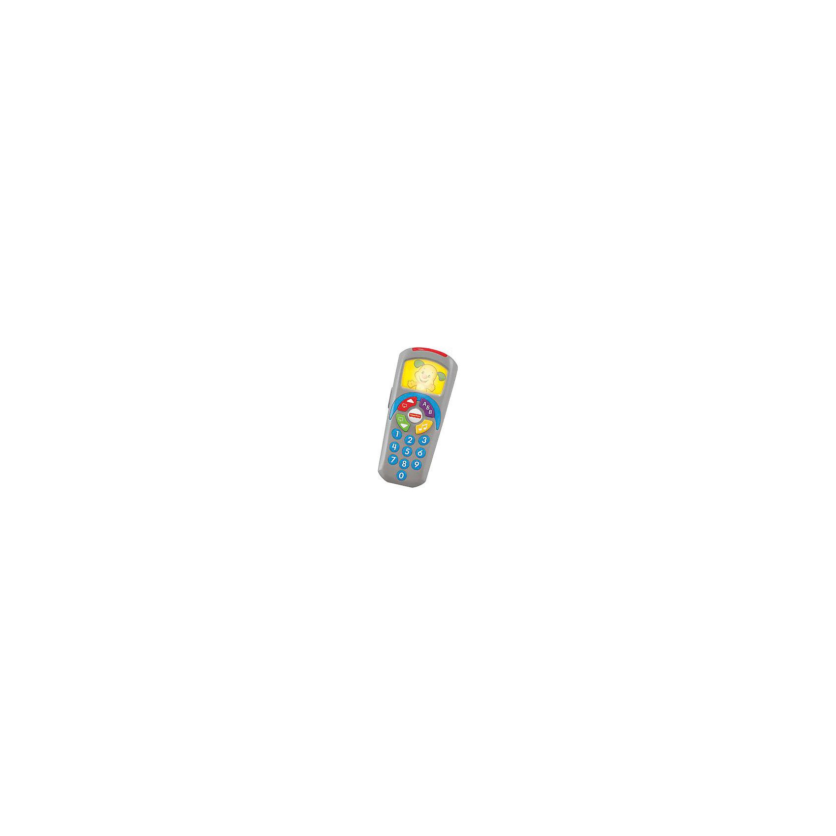 Пульт Щелкай и учись?, Fisher-priceРазвивающие игрушки<br>Пульт Щелкай и учись?, Fisher-price (Фишер Прайс) - развивающая игрушка со звуковыми и световыми эффектами.<br>Пульт Щелкай и учись? от Fisher-price (Фишер Прайс) предназначен для малышей от 6 месяцев, и может использоваться, как в качестве обычной игрушки, так и в качестве обучающего тренажера. Снаружи на игровом пульте 10 цифровых кнопок и четыре большие клавиши, а внутри — песенки и полезные знания. C ним можно изображать пульт от телевизора. Если нажать на кнопку, зажигается экран, звучат интересные и познавательные песенки и фразы о числах, буквах алфавита, цветах, противоположностях — и о многом другом. Для большего интереса, во время игры экран пульта Щелкай и Учись подсвечивается в ритм мелодий или слов.<br><br>Дополнительная информация:<br><br>- 35 песенок, мелодий и фраз<br>- Размер: 16х7х4 см.<br>- Материал: пластик, металл<br>- Цвет: голубой<br>- Батарейки: 2 типа АА (в комплекте демонстрационные батарейки)<br><br>Пульт Щелкай и учись?, Fisher-price можно купить в нашем интернет-магазине.<br><br>Ширина мм: 50<br>Глубина мм: 110<br>Высота мм: 205<br>Вес г: 230<br>Возраст от месяцев: 6<br>Возраст до месяцев: 24<br>Пол: Унисекс<br>Возраст: Детский<br>SKU: 4753062