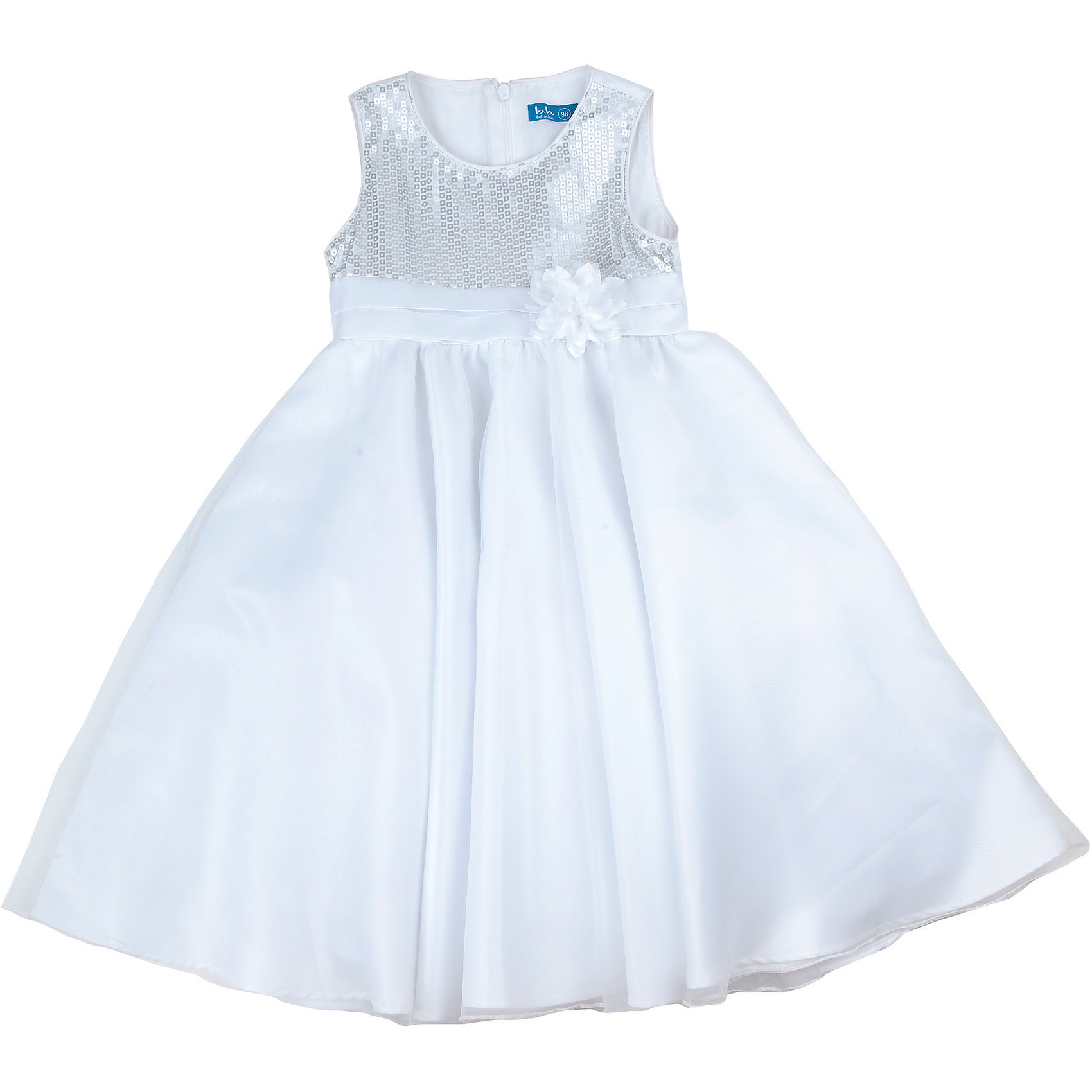 Платье для девочки Button BlueНарядное платье для девочки известной марки Button Blue.<br>Состав:<br>Верх: 62%полиэстер, 35%хлопок, 3%эластан <br>Подкладка.: 100%хлопок<br><br>Ширина мм: 236<br>Глубина мм: 16<br>Высота мм: 184<br>Вес г: 177<br>Цвет: белый<br>Возраст от месяцев: 36<br>Возраст до месяцев: 48<br>Пол: Женский<br>Возраст: Детский<br>Размер: 104,98,116,110<br>SKU: 4753260