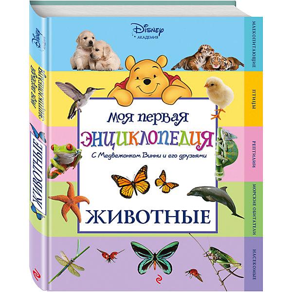 Животные Winnie the Pooh, 2-е изданиеДетские энциклопедии<br>Прочитав эту занимательную энциклопедию, ребёнок вместе с Медвежонком Винни и его друзьями узнает о том, зачем тиграм шерсть, как рыбы дышат под водой, все ли пауки плетут паутину и  многое другое. Знакомясь с этими и другими  любопытными фактами о мире животных, малыш не только разовьёт познавательные способности, кругозор и интеллект, но и структурное мышление, а также получит первый опыт работы с энциклопедической литературой.<br>Ширина мм: 280; Глубина мм: 210; Высота мм: 15; Вес г: 944; Возраст от месяцев: 36; Возраст до месяцев: 72; Пол: Унисекс; Возраст: Детский; SKU: 4753478;