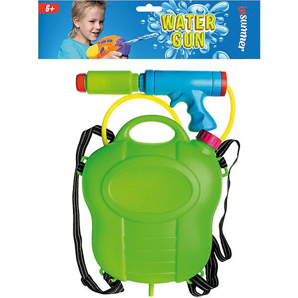 Водная помпа С рюкзаком, InSummerВодяные пистолеты<br>Забавная водяная помпа с рюкзаком - набор для веселых игр на свежем воздухе. Пистолет может стрелять на дальние расстояния, а патронов хватит на долгое время, благодаря вместительной канистре-рюкзаку. Этот превосходный набор обеспечит детям увлекательные игры!<br><br>Дополнительная информация:<br>В комплекте: пистолет с помпой, рюкзак-канистра, трубка<br>Материал: пластик<br>Водяную помпу с рюкзаком можно приобрести в нашем интернет-магазине.<br>Ширина мм: 310; Глубина мм: 1000; Высота мм: 300; Вес г: 120; Возраст от месяцев: 36; Возраст до месяцев: 168; Пол: Унисекс; Возраст: Детский; SKU: 4753585;