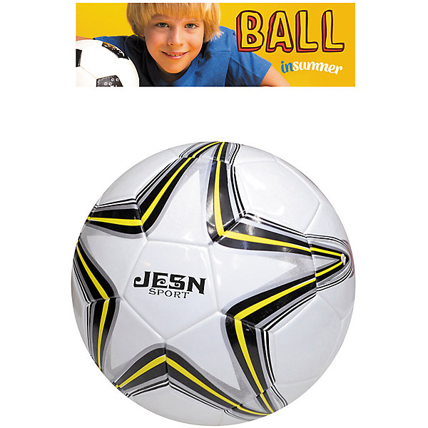 Футбольный мяч Профессионал, InSummerМячи детские<br>Мяч Профессионал создан специально для любителей футбола. Он изготовлен из качественных материалов, обеспечивающих высокую прочность. Белый мяч украшен рисунком в форме звезды черно-желтого цвета. Прекрасный выбор для юных футболистов!<br><br>Дополнительная информация:<br>Размер упаковки: 27х27х15 см<br>Мяч Профессионал вы можете приобрести в нашем интернет-магазине.<br>Ширина мм: 120; Глубина мм: 1000; Высота мм: 250; Вес г: 400; Возраст от месяцев: 36; Возраст до месяцев: 192; Пол: Унисекс; Возраст: Детский; SKU: 4753592;