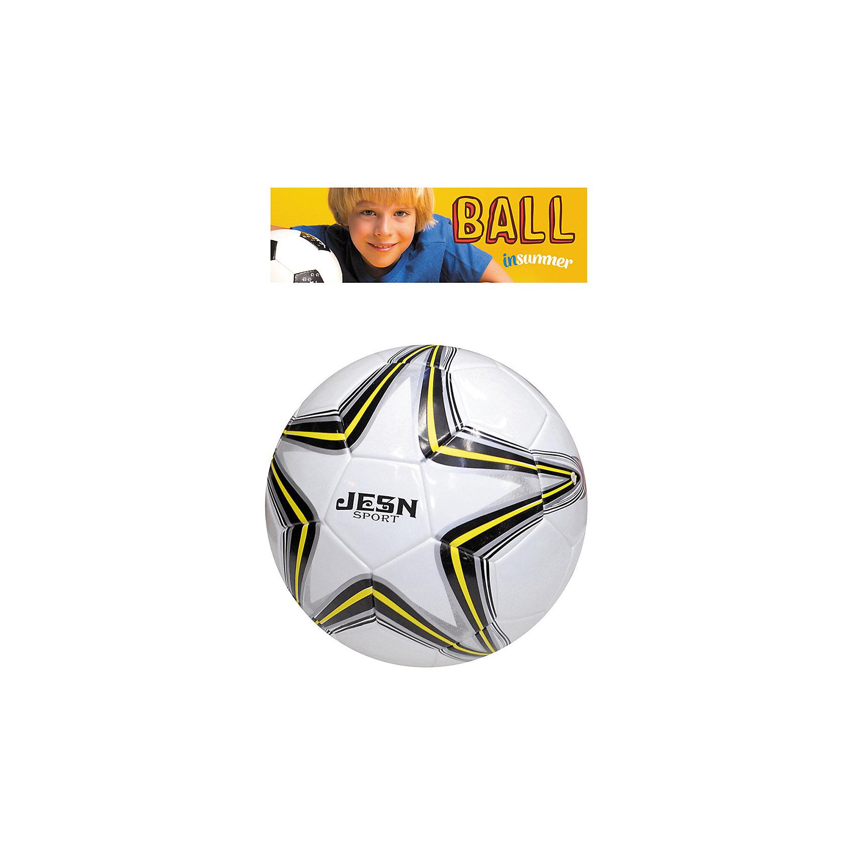 Футбольный мяч Профессионал, InSummerМяч Профессионал создан специально для любителей футбола. Он изготовлен из качественных материалов, обеспечивающих высокую прочность. Белый мяч украшен рисунком в форме звезды черно-желтого цвета. Прекрасный выбор для юных футболистов!<br><br>Дополнительная информация:<br>Размер упаковки: 27х27х15 см<br>Мяч Профессионал вы можете приобрести в нашем интернет-магазине.<br><br>Ширина мм: 120<br>Глубина мм: 1000<br>Высота мм: 250<br>Вес г: 400<br>Возраст от месяцев: 36<br>Возраст до месяцев: 192<br>Пол: Унисекс<br>Возраст: Детский<br>SKU: 4753592