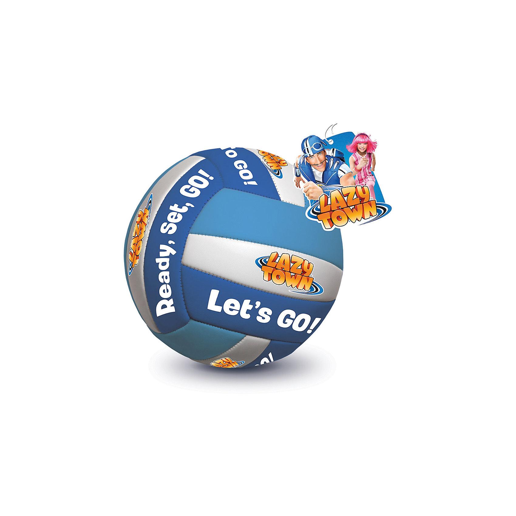 Волейбольный мяч Lazy Town, ЛетоВолейбольный мяч Lazy Town вдохновит ребенка на новые активные игры. Мяч изготовлен из качественных материалов, обеспечивающих высокую прочность. Мяч от героев телепередачи Лентяево имеет приятную расцветку и мотивирующие надписи. Играть с таким мячом - одно удовольствие!<br><br>Дополнительная информация:<br>Материал: ПВХ<br>Вес: 400 грамм<br>Волейбольный мяч Lazy Town вы можете купить в нашем интернет-магазине.<br><br>Ширина мм: 500<br>Глубина мм: 500<br>Высота мм: 500<br>Вес г: 400<br>Возраст от месяцев: 36<br>Возраст до месяцев: 192<br>Пол: Мужской<br>Возраст: Детский<br>SKU: 4753594