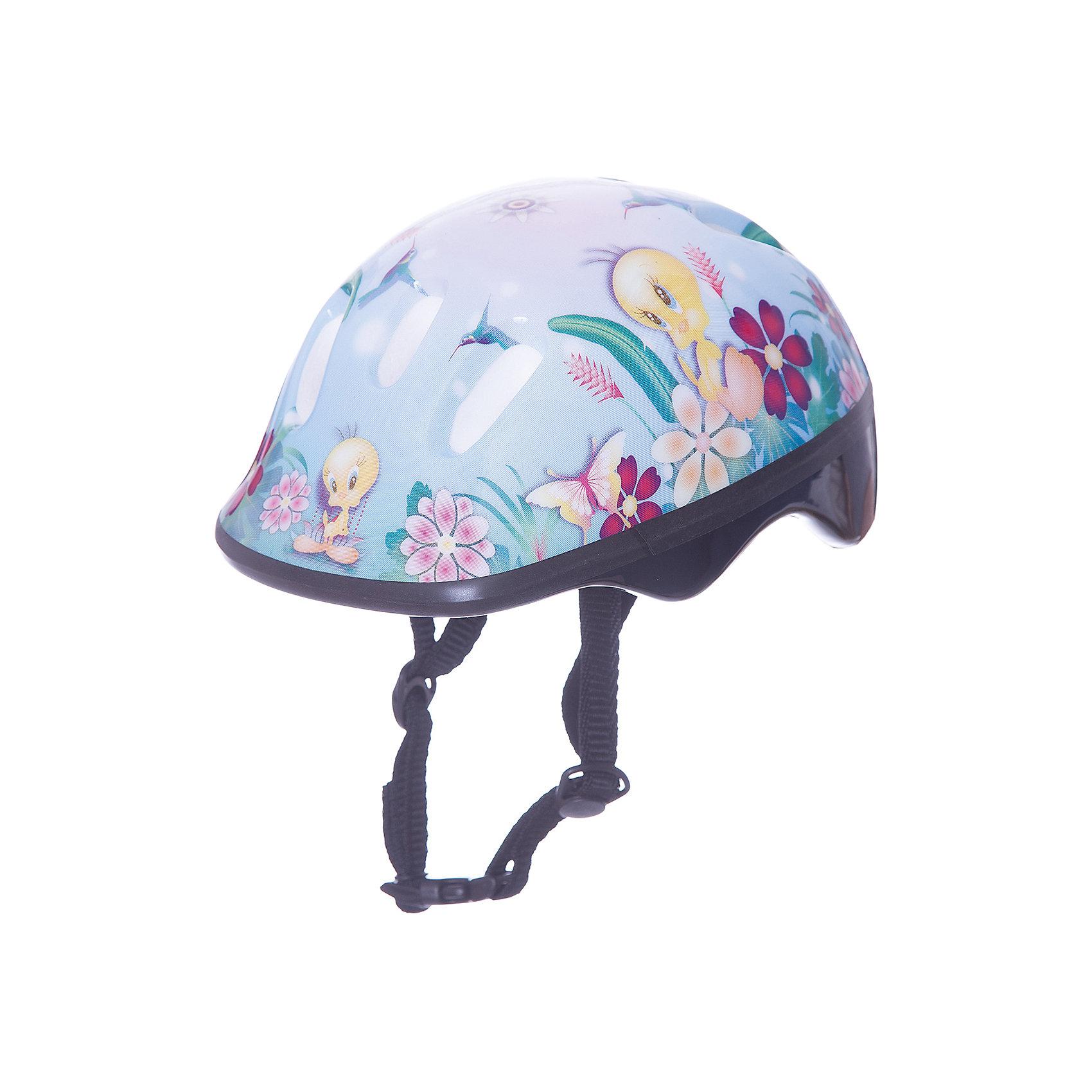 Шлем ТВИТТИ разм.S, ЛетоЗащита, шлемы<br>Шлем ТВИТТИ предназначен для девочек, любящих прогулки на велосипеде или роликовых коньках. Модель изготовлена из прочного ударостойкого пластика и плотно прилегает к голове. Верх шлема украшен яркой картинкой с цветами, бабочками и птичкой Твитти. Этот шлем несомненно вызовет восторг у любительницы активного отдыха!<br><br>Дополнительная информация:<br>Размер: S<br>Материал: пластик<br>Размер упаковки: 25х19х13 см<br>Вес: 318 грамм<br>Вы можете купить шлем ТВИТТИ в нашем интернет-магазине.<br><br>Ширина мм: 500<br>Глубина мм: 500<br>Высота мм: 500<br>Вес г: 318<br>Возраст от месяцев: 36<br>Возраст до месяцев: 192<br>Пол: Унисекс<br>Возраст: Детский<br>SKU: 4753613
