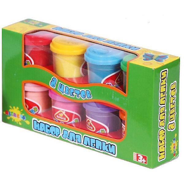 Масса для лепки , 8 цветовМасса для лепки<br>Целых восемь ярких оттенков цветов - оптимальный из вариантов выбор набора для лепки, благодаря которому ребёнок создаст себе новые игрушки!<br>Консистенция состава для лепки приятна ощупь, практична в использовании и не пачкает ручки деткам. Материал набора не содержит химических красителей - раздражителей и абсолютно безопасен для детского здоровья.<br><br>Лепка развивает воображение, творческие способности ребёнка и мелкую моторику рук.<br><br>Дополнительная информация:<br><br>- Материал: натуральный состав для лепки, пластик.<br>- Возраст ребёнка: от 3 до 6 лет.<br>- В наборе: 8 баночек массы для лепки по 56,7 гр.<br>- Состав массы для лепки: вода, мука пшеничная, ванильный экстракт, белый вазелин, хлористый натрий (соль), консервант (сорбат калия), хлорид кальция, пигмент цвета.<br>- Размер упаковки: 24,5x13x5,5 см.<br><br>Купить массу для лепки можно в нашем магазине.<br><br>Ширина мм: 245<br>Глубина мм: 130<br>Высота мм: 55<br>Вес г: 688<br>Возраст от месяцев: 36<br>Возраст до месяцев: 72<br>Пол: Унисекс<br>Возраст: Детский<br>SKU: 4753810