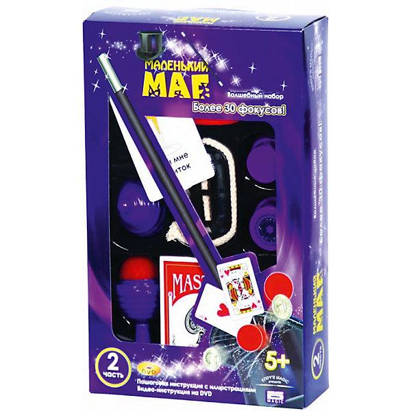 Набор  для демонстрации 30 фокусов Маленький магФокусы и розыгрыши<br>Волшебный мир магических превращений и виртуозных фокусов надолго увлечет каждого счастливчика-обладателя такого игрового набора. Для демонстрации 30 фокусов в комплекте игрового набора предусмотрены все необходимые игровые элементы и аксессуары в виде: волшебного резака, поролоновых шариков и кубика, колоды меченых карт, карт Монте и Свингаля, вазы с крышкой, секретного стаканчика, верёвки и многого другого, не менее интересного, а также пошаговая инструкция с иллюстрациями. Новое игровое приобретение благоприятно воздействует на образное и пространственное воображение, память, зрительно-тактильное восприятие, мелкую моторику и проявление творческих идей и фантазий. Все составляющие набора выполнены из прочного и высококачественного материала, окрашенного в нетоксичные краски.<br><br>Замечательный подарок для ребёнка и взрослого - настоящий набор фокусника! Здесь есть и волшебный резак, и колода меченых карт, и ваза с секретной крышкой - они помогут вам прослыть среди друзей талантливым фокусником!<br><br>К набору помимо реквизита прилагается инструкция с пошаговым описанием каждого фокуса.<br><br>Дополнительная информация:<br><br>- Материал: нетоксичный пластик, картон.<br>- Возраст ребёнка: от 5 лет.<br>- В комплекте: игровые аксессуары, подробная инструкция.<br>- Размеры упаковки: 17x6,5x27 см.<br><br>Купить набор  для демонстрации 30 фокусов Маленький маг можно в нашем магазине.<br><br>Ширина мм: 170<br>Глубина мм: 270<br>Высота мм: 65<br>Вес г: 350<br>Возраст от месяцев: 72<br>Возраст до месяцев: 192<br>Пол: Унисекс<br>Возраст: Детский<br>SKU: 4753824
