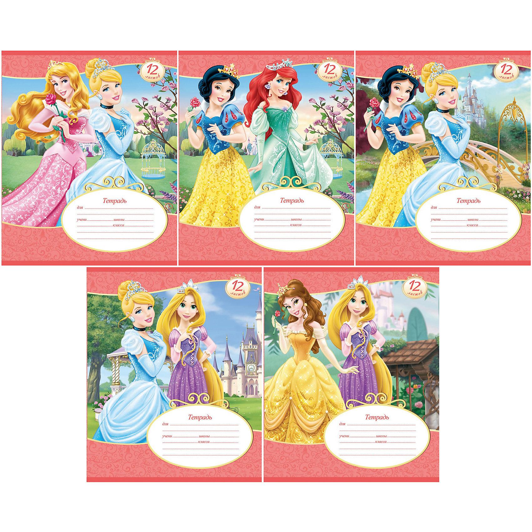 Тетради 12 л. в линейку «Disney Принцессы», 20 шт.Принцессы Дисней<br>Эффектные тетради в линейку Принцессы Disney с изображением любимой героини на обложке придутся по душе юной школьнице. Качественная бумага высокой плотности не порвется от излишнего усердия во время урока, а разлинованные поля соответствуют всем рекомендованным нормативам. Отличный вариант для будущих пятерок!<br><br>Дополнительная информация:<br>- тетрадь в линейку с разлинованными полями<br>- формат А5<br>- 12 листов<br>- обложка: мелованный картон, покрытый глянцевым лаком<br>- закругленные углы<br>- крепление: скрепка<br>- в ассортименте 5 дизайнов<br>- рекомендовано для детей от 5 до 12 лет<br>- вес: 40 гр. <br><br>Тетради в линейку Принцессы Disney, 12 л. можно купить в нашем магазине<br><br>Ширина мм: 200<br>Глубина мм: 165<br>Высота мм: 2<br>Вес г: 40<br>Возраст от месяцев: 36<br>Возраст до месяцев: 2147483647<br>Пол: Женский<br>Возраст: Детский<br>SKU: 4754896