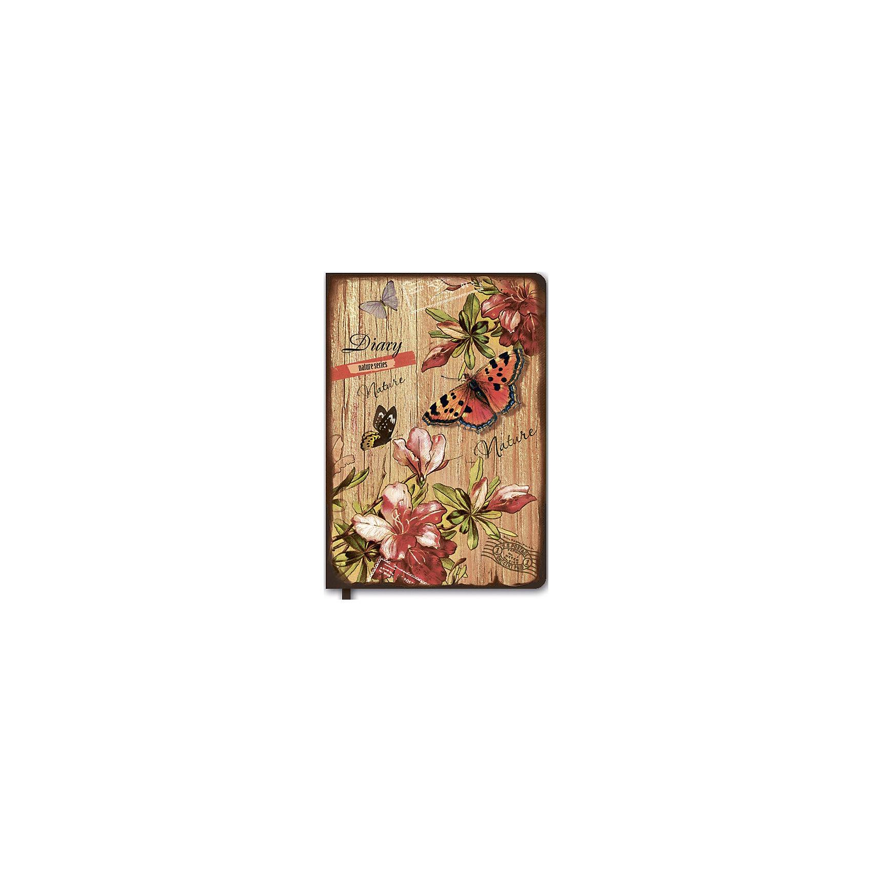 купить самсунг а5 2015г Феникс+ Ежедневник недатированный Бабочки в цветах, А5
