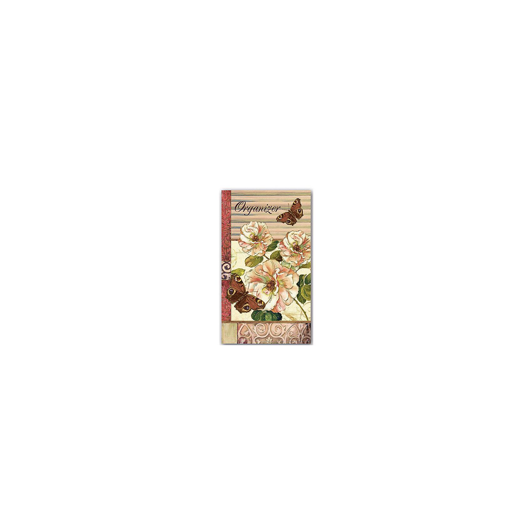 Органайзер трехблочный БабочкиБумажная продукция<br>Трехблочный органайзер включает в себя отрывной блок для заметок, блокнот на спирали с вырубкой по месяцам и адресную книгу - все, что нужно для удобной и практичной организации своих записей! Плотная обложка с магнитным клапаном декорирована оригинальным рисунком и тиснением золотой фольгой. <br>Отличный вариант для подарка на любой праздник! <br><br>Дополнительная информация:<br><br>- Обложка: твердая, 7БЦ, глянцевая пленка, тиснение золотой фольгой.<br>- Размер в собранном виде: 9,5х16 см.<br>- Размер в развернутом виде: 32х16 см. <br>- Отрывной блок для заметок: 30 листов.<br>- Планинг на евроспирали с вырубкой по месяцам: 60 листов.<br>- Адресная книга с алфавитной вырубкой на евроспирали: 28 листов.<br><br>Органайзер трехблочный Бабочки можно купить в нашем магазине.<br><br>Ширина мм: 160<br>Глубина мм: 100<br>Высота мм: 20<br>Вес г: 240<br>Возраст от месяцев: 48<br>Возраст до месяцев: 2147483647<br>Пол: Женский<br>Возраст: Детский<br>SKU: 4756044