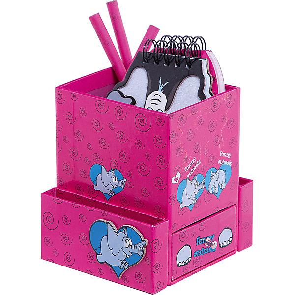 Подарочный канцелярский набор Слон (2 записные книжки,3 карандаша, ластик)Школьные аксессуары<br>Канцелярский набор, оформленный яркими веселыми картинками, обязательно понравится ребенку! Набор включает в себя 2 записные книжки,3 карандаша, ластик. Прекрасный вариант для памятного презента на любой праздник. <br><br>Дополнительная информация:<br><br>- Материал: картон, бумага.<br>- Комплектация: 2 записные книжки, 3 карандаша, ластик.<br>- Размер упаковки: 16 х 12 х 10 см. <br><br>Подарочный канцелярский набор Слон (2 записные книжки, стикер, 3 книжные закладки) можно купить в нашем магазине.<br>Ширина мм: 120; Глубина мм: 100; Высота мм: 160; Вес г: 358; Возраст от месяцев: 48; Возраст до месяцев: 2147483647; Пол: Унисекс; Возраст: Детский; SKU: 4756046;