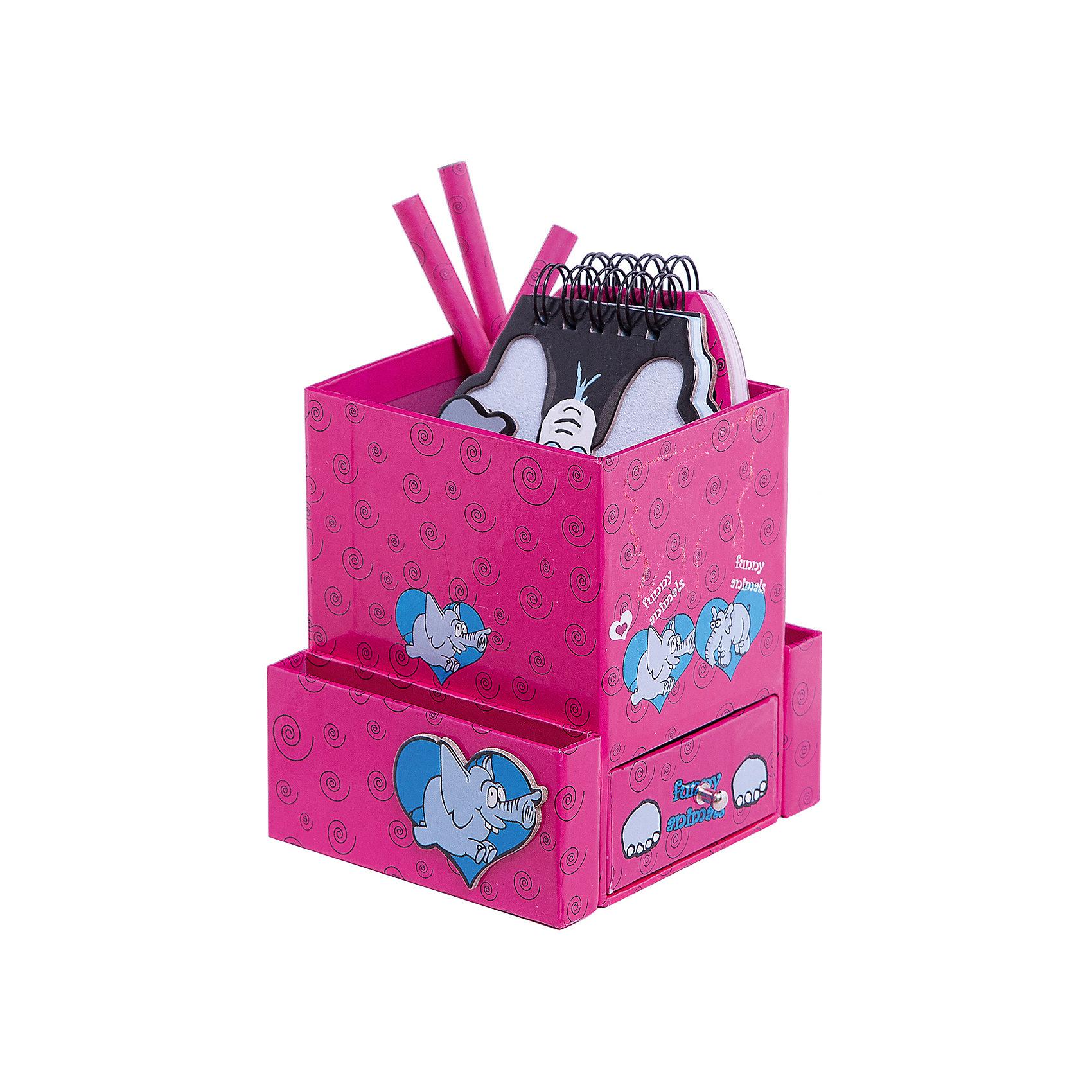 Феникс+ Подарочный канцелярский набор Слон (2 записные книжки,3 карандаша, ластик) записные книжки блока
