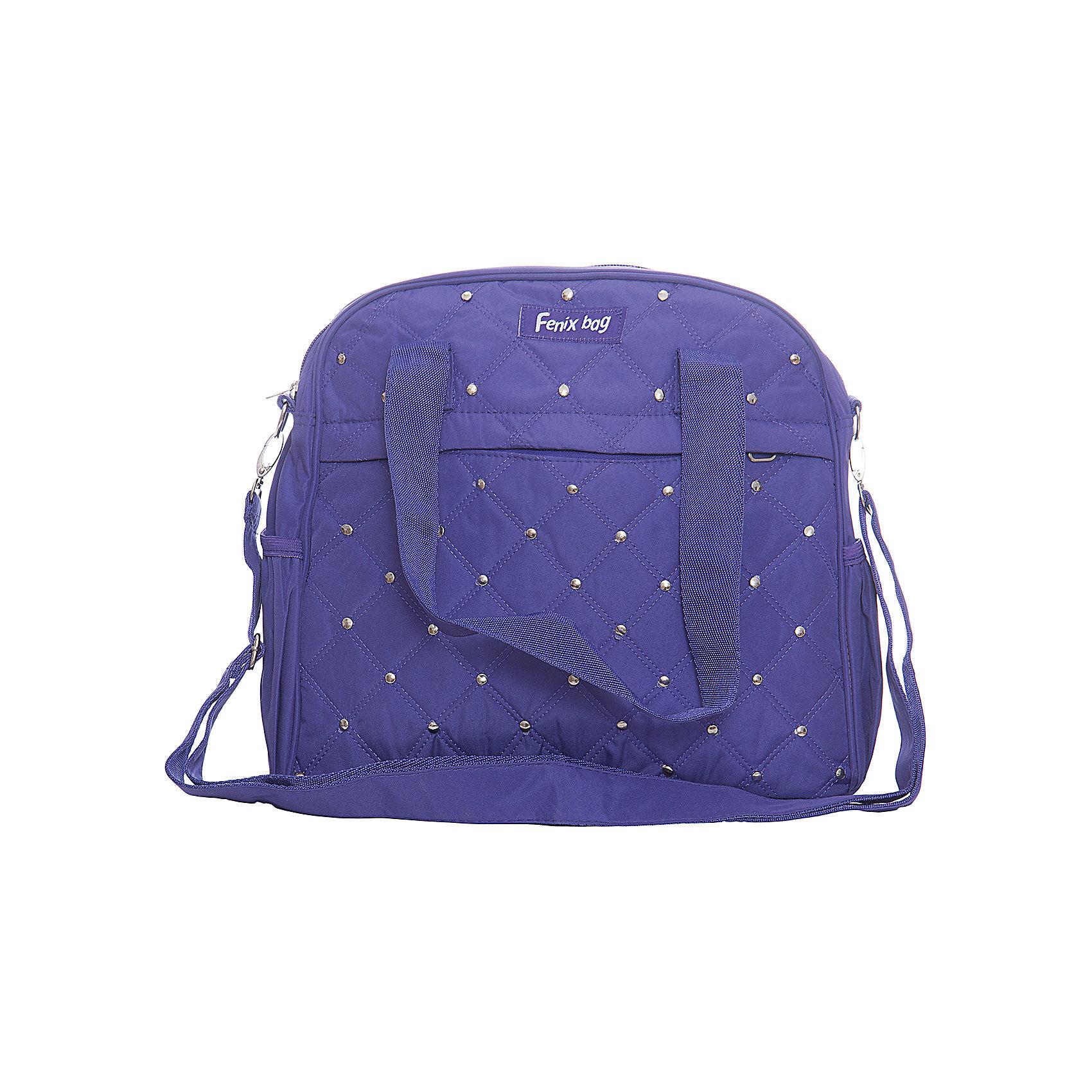 Сумка для девочек с клепками, фиолетоваяДетские сумки<br>Девочки обожают аксессуары, эта стильная фиолетовая сумочка приведет в восторг всех юных модниц! Плечевой ремень модели регулируется по длине, стеганая поверхность декорирована металлическими клепками. Сумка имеет одно вместительное отделение и удобные карманы, а стильный дизайн и спокойная расцветка этой модели прекрасно впишутся в любой гардероб.<br><br>Дополнительная информация:<br><br>- Материал: металл, пластик, текстиль. <br>- Размер: 31х29х10 см.<br>- Тип застежки: молния. <br>- Плечевой ремень регулируется. <br>- 1 отделение.<br>- 4 кармана: 1 внутренний, 1 внешний, 2 боковых. <br><br>Сумку для девочки, с клепками, фиолетовую, можно купить в нашем магазине.<br><br>Ширина мм: 310<br>Глубина мм: 290<br>Высота мм: 100<br>Вес г: 330<br>Возраст от месяцев: 48<br>Возраст до месяцев: 120<br>Пол: Женский<br>Возраст: Детский<br>SKU: 4756056