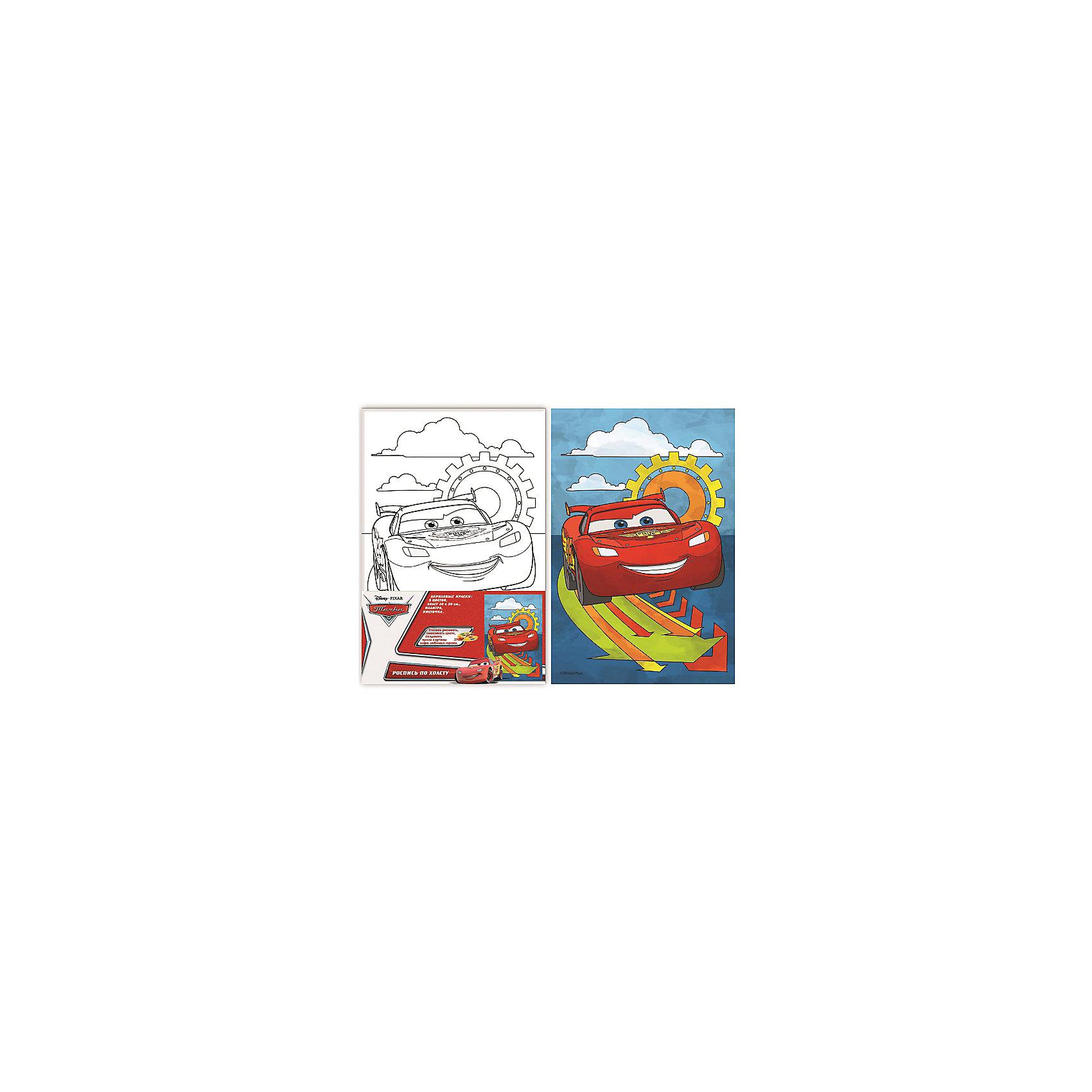 Роспись по холсту Маккуин, ТачкиТачки<br>Роспись по холсту - это очень интересный вид деятельности, который придется по вкусу любому ребенку! Даже если ты еще не очень хорошо рисуешь, у тебя есть возможность почувствовать себя настоящим художником и создать прекрасную картину! Надо лишь раскрасить уже готовый рисунок и твой шедевр готов! В наборе есть уже все необходимое для творчества. Акриловые краски - нетоксичные и абсолютно безопасные, они прекрасно ложатся на холст и легко смываются с рук и одежды. Если цвет нанесен неверно, просто подождите пока краска высохнет и нанесите новый цвет на подсохшую поверхность. <br>Рисование и раскрашивание играют важную роль в развитии фантазии, моторики, художественного вкуса, воображения и внимания. Картина с изображением стремительного Молнии Маккуина станет прекрасным украшением детской или замечательным подарком, сделанным своими руками. <br><br>Дополнительная информация:<br><br>- Материал: пластик, краски, картон, текстиль. <br>- Комплектация: 5 цветов акриловых красок в металлических тубах; палитра; кисточка.<br>- Размер холста: 20х30 см.<br>- Краски можно смешивать, получая новые цвета и оттенки. <br><br>Роспись по холсту Маккуин, Тачки (Cars), можно купить в нашем магазине.<br><br>Ширина мм: 200<br>Глубина мм: 300<br>Высота мм: 15<br>Вес г: 230<br>Возраст от месяцев: 60<br>Возраст до месяцев: 2147483647<br>Пол: Унисекс<br>Возраст: Детский<br>SKU: 4756167