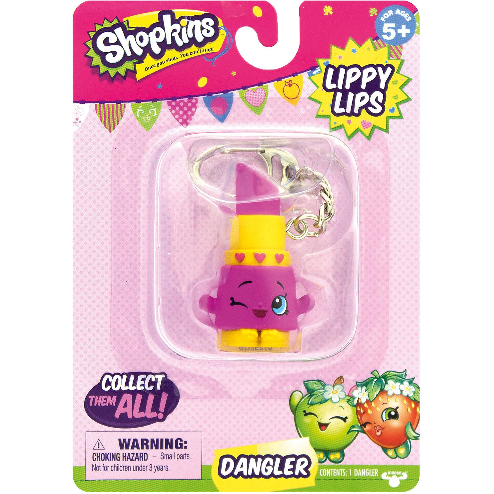 Брелок Lippy Lips, ShopkinsИгрушечные продукты питания<br>Брелок Lippy Lips, Shopkins – этот яркий, модный брелок станет отличным подарком для вашей девочки.<br>Компания Shopkins специально для маленьких модниц выпустила невероятно красивые брелоки! Брелок-помада Lippy Lips ярко розового цвета с желтым ободком, украшен тремя розовыми сердечками. Она выполнена в виде фигурки с ручками. На лице хитро прищурен глаз. Стоит фигурка на желтых башмачках с красивыми бантиками. На такой брелок девочке будет приятно повесить свои ключи, также его можно просто повесить на рюкзак и он будет радовать ее своим видом. Брелок выполнен из безопасного для детей материала.<br><br>Дополнительная информация:<br><br>- Вид замка: карабин<br>- Материал: пластмасса, металл<br>- Размер упаковки: 10,8 ? 3,8 ? 15,2 см.<br><br>Брелок Lippy Lips, Shopkins можно купить в нашем интернет-магазине.<br><br>Ширина мм: 108<br>Глубина мм: 38<br>Высота мм: 153<br>Вес г: 50<br>Возраст от месяцев: 60<br>Возраст до месяцев: 192<br>Пол: Женский<br>Возраст: Детский<br>SKU: 4756894