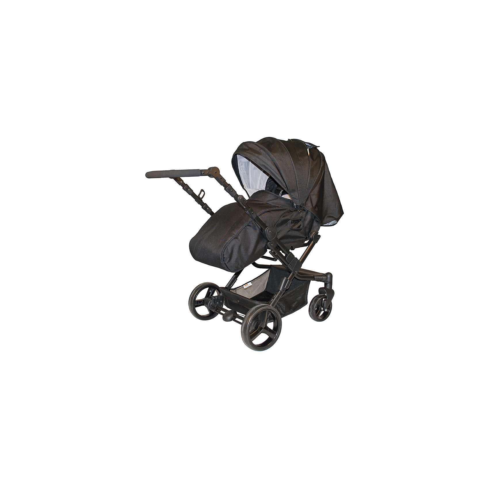 Коляска-трансформер Oasis, Baby Hit, серыйОсобенностью коляски является наличие у нее реверсивного прогулочного блока с устанавливаемой внутри на ремнях каркасной люлькой-переноской и перекидной ручки. Установка прогулочного блока против движения поможет малышу сохранять визуальный контакт с мамой, пока он совсем маленький, установка по ходу движения будет актуальна, когда ребенок подрастет и станет проявлять интерес к окружающему миру. Перекидная ручка поможет быстро изменить положение ребенка относительно направления движения, что пригодится в условиях ограниченного маневра или при резком ухудшении погоды (например, при встречном дожде или ветре).  Ходовая часть коляски-трансформера Oasis состоит из алюминиевой рамы, установленной на четырех колесах с амортизацией, передние колеса - полностью поворотные с фиксацией в положении прямо, задние - оборудованы тормозами с ручным управлением. Безопасность модели обеспечивают 5 точечные ремни безопасности и бампер с паховым ремнем, предохраняющие детей от возможного выпадения или выскальзывания из коляски. Складывается коляска книжкой( возможен вариант складывания без снятия прогулочного блока), в сложенном виде без труда помещается в багажник авто и занимает немного места при хранении.<br><br>Характеристика:<br>- Для детей от рождения до трех лет.<br>- Переставляемый «лицом к родителю» и обратно прогулочный блок.<br>- Перекидная родительская ручка.<br>- Четыре положения регулировки наклона спинки.<br>- Регулируемая подножка.<br>- Поворотные одинарные передние колеса с фиксацией.<br>- Съемный ограничительный поручень с паховым ремнем.<br>- Пятиточечная система ремней безопасности.<br>- Прочная алюминиевая рама<br>- Багажная корзина с козырьком от грязи.<br>- Облегченные колеса (передние 18 см, задние  24 см).<br><br>Дополнительная информация:<br>- Ширина колесной базы - 59,5 см.<br>- Размер коляски в разложенном состоянии: 112х105х48 см. (высота, длина, ширина)<br>- Размер коляски в сложенном состоянии (с прогулочным блок