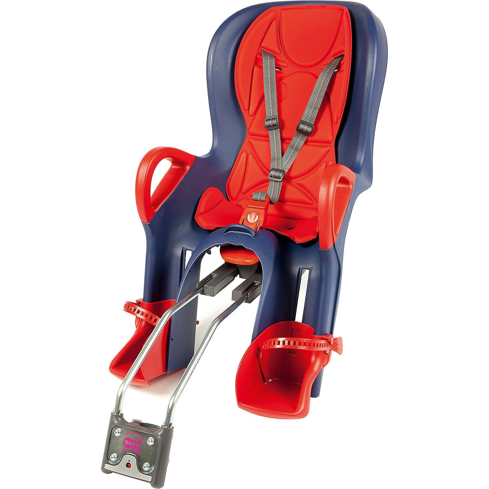 Велосипедное кресло 10+, красный/синий , Ok BabyГруппа 1 (От 9 до 18 кг)<br>Велосипедное кресло, Ok Baby, идеально подходит для перевозки детей весом до 22 кг. на велосипедах. Кресло надежно крепится в задней части велосипеда. Благодаря эргономичной форме и термической водоотталкивающей обивке кресла, поездка в нем будет комфортна в<br>любую погоду. Кресло имеет 8 регулировок продольного перемещения относительно седла велосипеда, что позволяет использовать его практически на любых моделях велосипедов. Наклон спинки можно регулировать в 7 положениях, выбрав наиболее удобное для ребенка. При этом<br>не будет нарушена управляемость и устойчивость велосипеда. Ребенок надежно удерживается в кресле 3-точечными ремнями безопасности, удобные подставки для ног регулируются по высоте. Специальная система ABS удерживает центр тяжести велокресла в правильном<br>положении. Сигнализатор закрепления указывает на правильность прикрепления сиденья к велосипеду. Для повышения безопасности в тёмное время суток на дороге, спинка велокресла оборудована светоотражателем с 4 светодиодами, имеющими 4 различные рабочие программы.<br><br><br>Дополнительная информация:<br><br>- Цвет: красный/синий.<br>- Максимальный вес ребенка: 22 кг.<br><br>Велосипедное кресло 10+, красный/синий , Ok Baby, можно купить в нашем интернет-магазине.<br><br>Ширина мм: 500<br>Глубина мм: 450<br>Высота мм: 900<br>Вес г: 5000<br>Возраст от месяцев: 10<br>Возраст до месяцев: 36<br>Пол: Унисекс<br>Возраст: Детский<br>SKU: 4761342