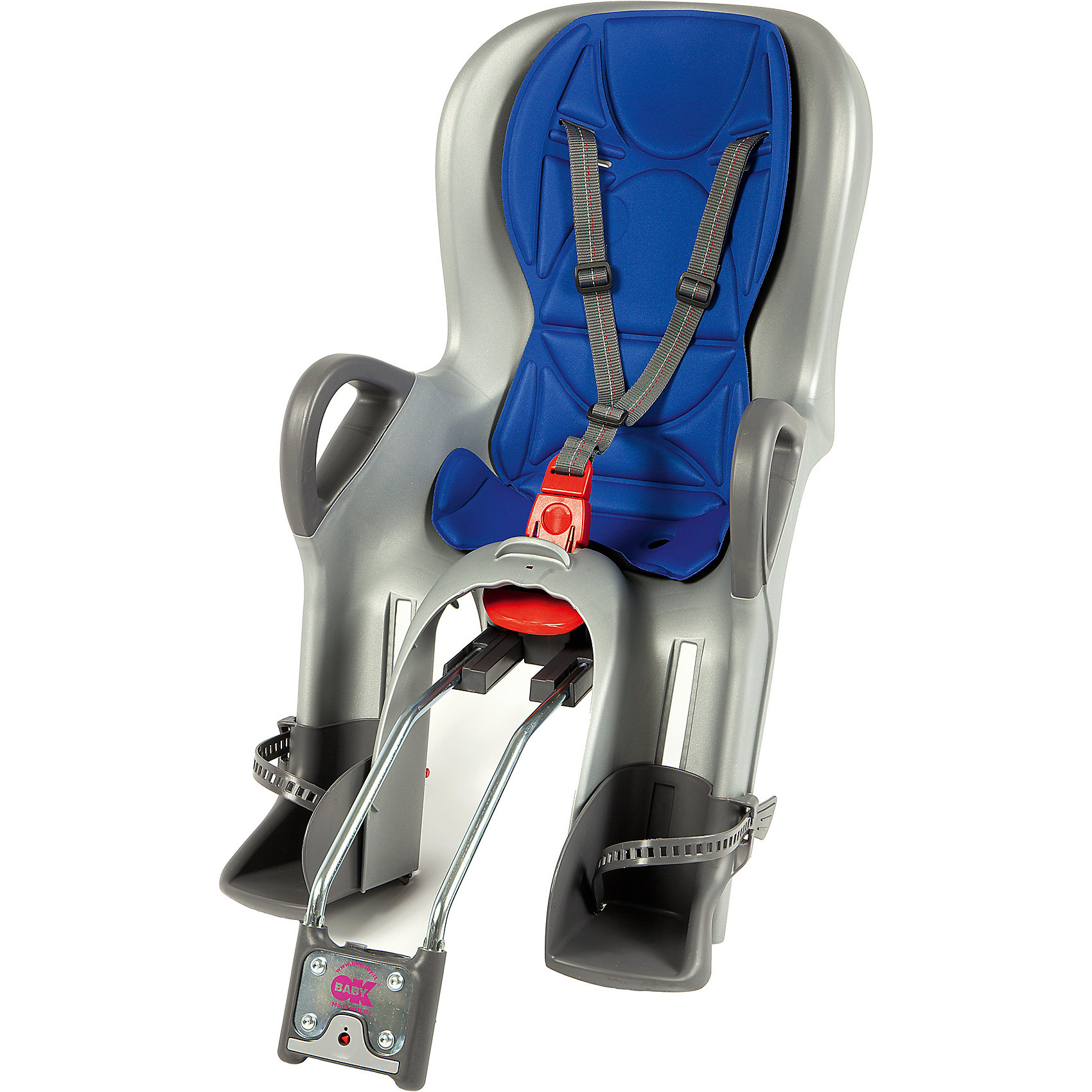 Велосипедное кресло 10+, синий/серебристый, Ok BabyПрочие товары для безопасности<br>Велосипедное кресло, Ok Baby, идеально подходит для перевозки детей весом до 22 кг. на велосипедах. Кресло надежно крепится в задней части велосипеда. Благодаря эргономичной форме и термической водоотталкивающей обивке кресла, поездка в нем будет комфортна в<br>любую погоду. Кресло имеет 8 регулировок продольного перемещения относительно седла велосипеда, что позволяет использовать его практически на любых моделях велосипедов. Наклон спинки можно регулировать в 7 положениях, выбрав наиболее удобное для ребенка. При этом<br>не будет нарушена управляемость и устойчивость велосипеда. Ребенок надежно удерживается в кресле 3-точечными ремнями безопасности, удобные подставки для ног регулируются по высоте. Специальная система ABS удерживает центр тяжести велокресла в правильном<br>положении. Сигнализатор закрепления указывает на правильность прикрепления сиденья к велосипеду. Для повышения безопасности в тёмное время суток на дороге, спинка велокресла оборудована светоотражателем с 4 светодиодами, имеющими 4 различные рабочие программы.<br><br><br>Дополнительная информация:<br><br>- Цвет: синий/серебристый.<br>- Максимальный вес ребенка: 22 кг.<br><br>Велосипедное кресло 10+, синий/серебристый, Ok Baby, можно купить в нашем интернет-магазине.<br><br>Ширина мм: 500<br>Глубина мм: 450<br>Высота мм: 900<br>Вес г: 5000<br>Возраст от месяцев: 10<br>Возраст до месяцев: 36<br>Пол: Унисекс<br>Возраст: Детский<br>SKU: 4761343