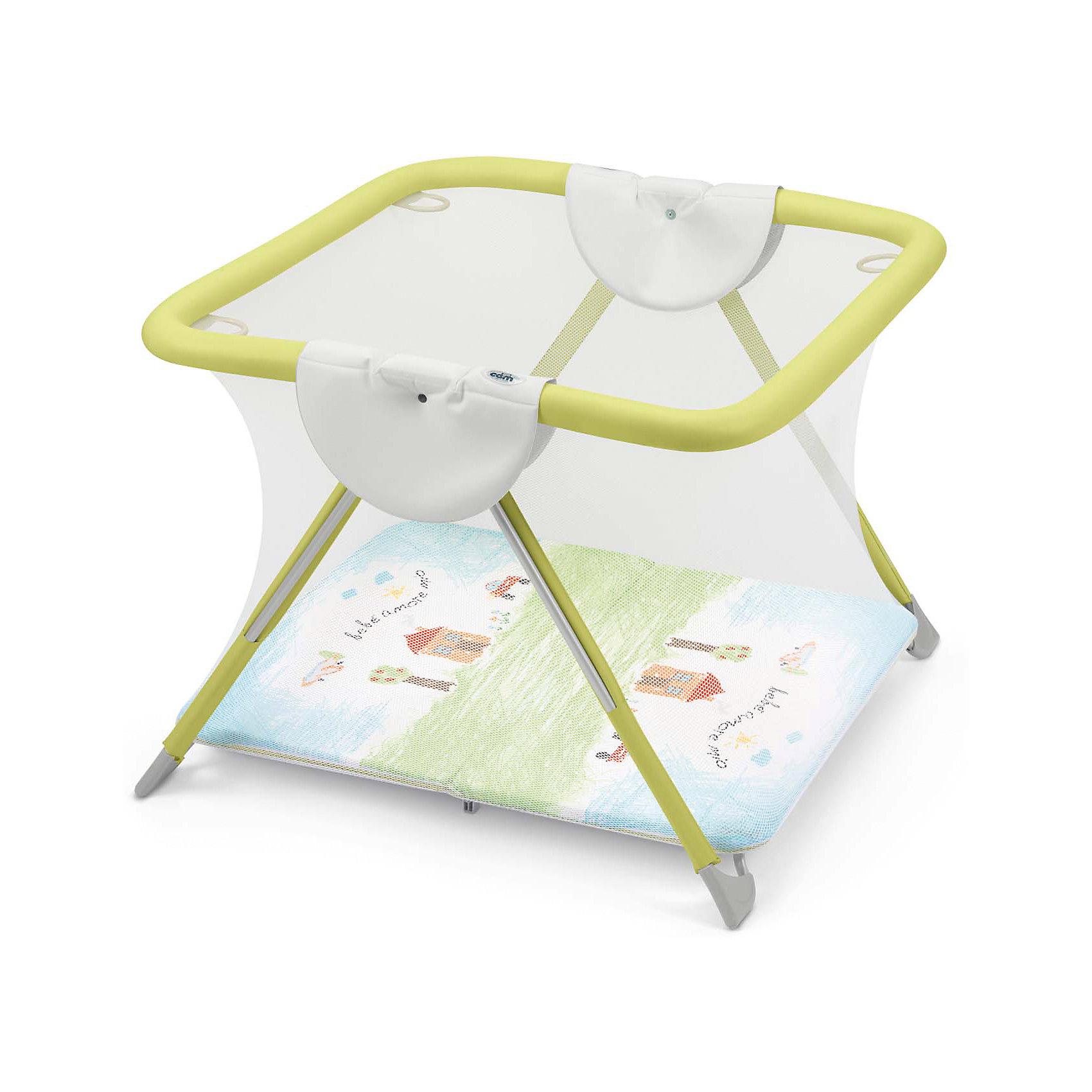 Игровой манеж America, CAM, салатовый Bebe amore mioОсновные характеристики:<br>предназначен для детей в возрасте от 5 до 24 месяцев, весом до 15 кг<br>крепкий и безопасный<br>боковые, фронтальные и задние упоры во избежание переворачивания манежа с ребенком<br>мягкий бортик, изготовленный из более устойчивого и крепкого пвх, для предотвращения его повреждения зубами ребенка<br>можно использовать как в помещении, так и на природе<br>надежное практичное дно<br>защитная сетка по периметру манежа<br>четыре резиновых ручки, помогающие малышу подниматься на ноги<br>4 ножки с покрытием не царапающим половые покрытия<br>легко складывается по принципу книжки, что обусловливает его компактность<br>легко моется губкой<br>Приятные особенности манежа Cam America: это идеальное приспособление, способное обезопасить вашего подвижного малыша. Изделие обладает квадратной формой с закрытыми стенками, оснащен великолепным цветным дном, что, несомненно, порадует кроху. Манеж имеет компактные размеры благодаря системе легкого складывания, защитную сетку и четыре резиновые ручки, помогающие малышу подняться на ноги.<br>Общие размеры:<br>в разложенном виде (шxгxв) 118x110x75 см<br>в сложенном виде (шxгxв) 118x23x72 см<br><br>Ширина мм: 1145<br>Глубина мм: 200<br>Высота мм: 1005<br>Вес г: 19000<br>Возраст от месяцев: 6<br>Возраст до месяцев: 36<br>Пол: Унисекс<br>Возраст: Детский<br>SKU: 4761352