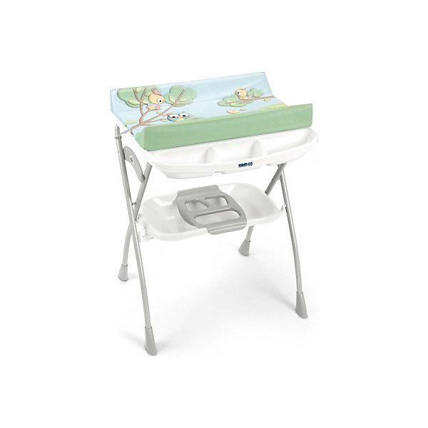 Пеленальный столик Volare, CAM, c совами и белой полкойПеленальные столы<br>Пеленальный стол Volare, CAM, идеально подходит для удобного и комфортного ухода за малышом. Основу конструкции составляет металлический каркас с закругленными углами. Съемная анатомическая ванночка может использоваться в 2-х позициях: для малышей от 0 до 6<br>месяцев и от 6 до 12 месяцев. Предусмотрены отделения для губки и мыла и отверстие для подвода воды через трубку. Под дном ванночки крепится удобный пластиковый контейнер с полкой-держателем для бутылочек и необходимых принадлежностей во время купания. Жесткий<br>пеленальный матрасик с высокими бортиками надежно и бережно поддерживает спинку малыша, оснащен системой безопасного крепления. 4 нескользящие ножки обеспечивают надежность и устойчивость. Уникальная система безопасности предотвращает самопроизвольное<br>складывание всей конструкции. Пеленальный столик легко и компактно складывается и не занимает много места при хранении.<br><br><br>Дополнительная информация:<br><br>- Цвет: c совами и белой полкой.<br>- Материал: пластик.<br>- Размер в разложенном виде: 78 x 66 x 103 см.<br>- Размер в сложенном виде: 78 x 22 x 110 см.<br>- Вес: 7,4 кг.<br><br>Пеленальный стол Volare, CAM, c совами и белой полкой, можно купить в нашем интернет-магазине.<br>Ширина мм: 1090; Глубина мм: 195; Высота мм: 810; Вес г: 10300; Возраст от месяцев: 0; Возраст до месяцев: 12; Пол: Унисекс; Возраст: Детский; SKU: 4761354;