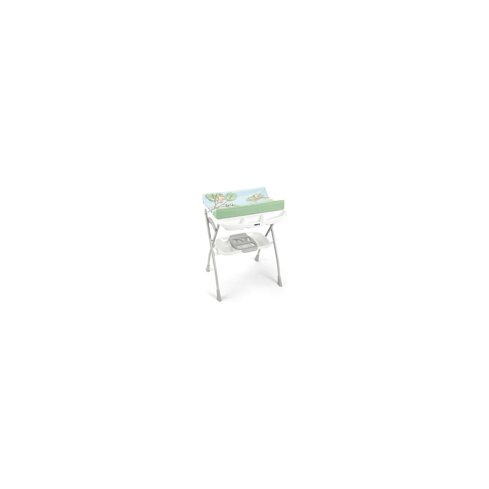 Пеленальный столик Volare, CAM, c совами и белой полкойВанны, горки, сиденья<br>Пеленальный стол Volare, CAM, идеально подходит для удобного и комфортного ухода за малышом. Основу конструкции составляет металлический каркас с закругленными углами. Съемная анатомическая ванночка может использоваться в 2-х позициях: для малышей от 0 до 6<br>месяцев и от 6 до 12 месяцев. Предусмотрены отделения для губки и мыла и отверстие для подвода воды через трубку. Под дном ванночки крепится удобный пластиковый контейнер с полкой-держателем для бутылочек и необходимых принадлежностей во время купания. Жесткий<br>пеленальный матрасик с высокими бортиками надежно и бережно поддерживает спинку малыша, оснащен системой безопасного крепления. 4 нескользящие ножки обеспечивают надежность и устойчивость. Уникальная система безопасности предотвращает самопроизвольное<br>складывание всей конструкции. Пеленальный столик легко и компактно складывается и не занимает много места при хранении.<br><br><br>Дополнительная информация:<br><br>- Цвет: c совами и белой полкой.<br>- Материал: пластик.<br>- Размер в разложенном виде: 78 x 66 x 103 см.<br>- Размер в сложенном виде: 78 x 22 x 110 см.<br>- Вес: 7,4 кг.<br><br>Пеленальный стол Volare, CAM, c совами и белой полкой, можно купить в нашем интернет-магазине.<br><br>Ширина мм: 1090<br>Глубина мм: 195<br>Высота мм: 810<br>Вес г: 10300<br>Возраст от месяцев: 0<br>Возраст до месяцев: 12<br>Пол: Унисекс<br>Возраст: Детский<br>SKU: 4761354