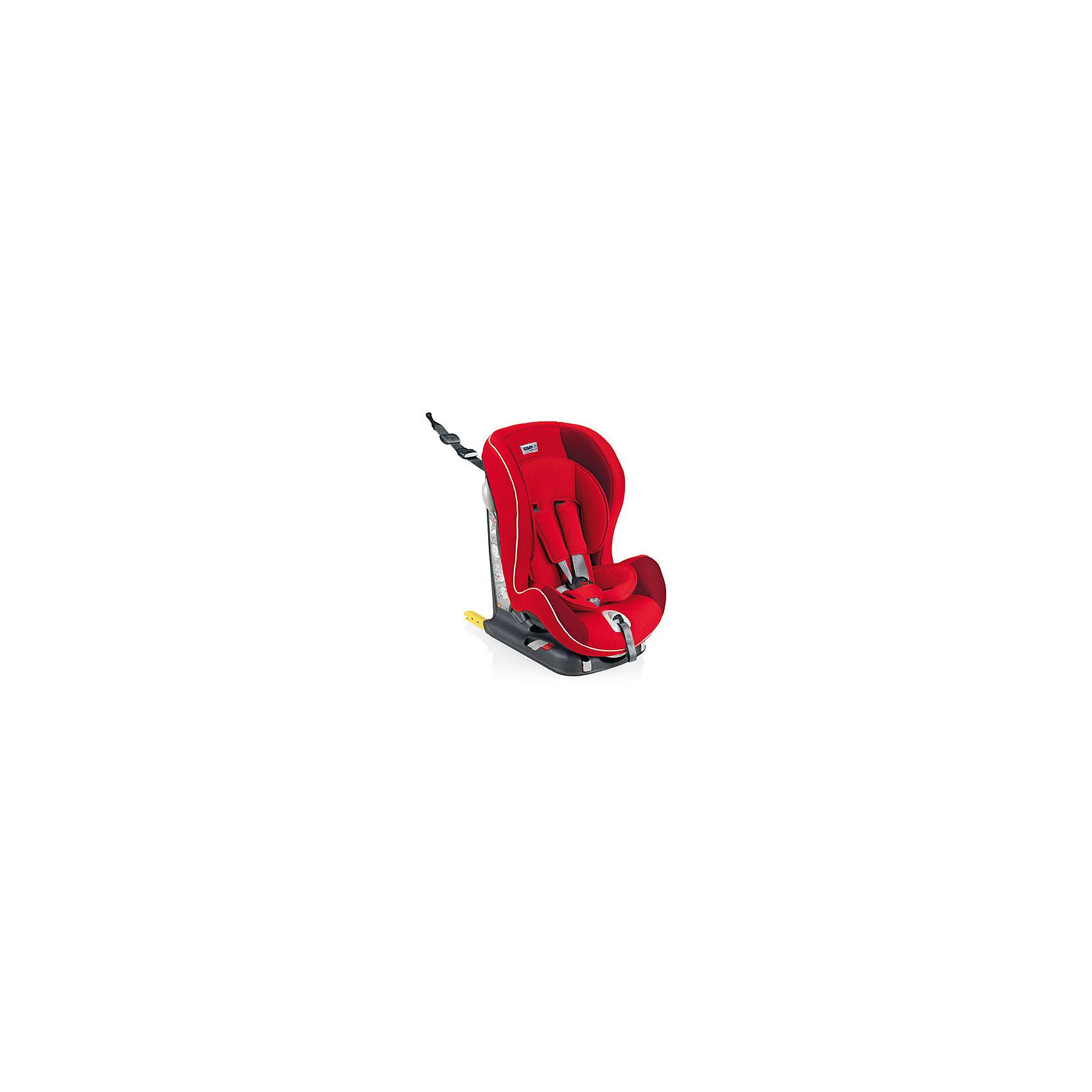 Автокресло Viaggiosicuro Isofix, 9-18кг., CAM, красныйАвтокресло Viaggiosicuro Isofix, CAM - комфортная надежная модель, которая сделает поездку Вашего ребенка приятной и безопасной. Сиденье кресла с анатомическим подголовником обеспечивает комфорт во время длительных поездок. Наклон спинки можно регулировать в 5<br>положениях, что позволяет выбрать наиболее удобное для ребенка. Кресло оснащено регулируемыми 5-точечными ремнями безопасности с мягкими плечевыми накладками и ремешком между ножек. Усиленная боковая защита убережёт ребёнка от серьезных травм. <br><br>Автокресло устанавливается лицом вперед, по ходу движения автомобиля с помощью штатных ремней безопасности или с помощью универсальных креплений Isofix (желтые соединительные элементы в задней части кресла) и фиксатора Top tether (расположен в верхней части<br>автокресла). Имеются индикаторы правильной установки кресла. Обивка кресла изготовлена из высококачественных материалов, тканевые гипоаллергенные чехлы снимаются для чистки или стирки при t 30°C. Автокресло имеет стандарт безопасности ECE R 44/04. Рассчитано на детей<br>от 9 мес. до 4 лет, весом 9-18 кг.<br><br><br>Дополнительная информация:<br><br>- Цвет: красный. <br>- Материал: текстиль, пластик, металл.<br>- Возраст: 9 мес. - 4 года (9-18 кг.)<br>- Размер: 44 х 53 х 64 см. <br>- Вес: 10,4 кг.<br><br>Автокресло Viaggiosicuro Isofix, 9-18 кг., CAM, красный, можно купить в нашем интернет-магазине.<br><br>Ширина мм: 385<br>Глубина мм: 345<br>Высота мм: 415<br>Вес г: 11760<br>Возраст от месяцев: 9<br>Возраст до месяцев: 36<br>Пол: Унисекс<br>Возраст: Детский<br>SKU: 4761361