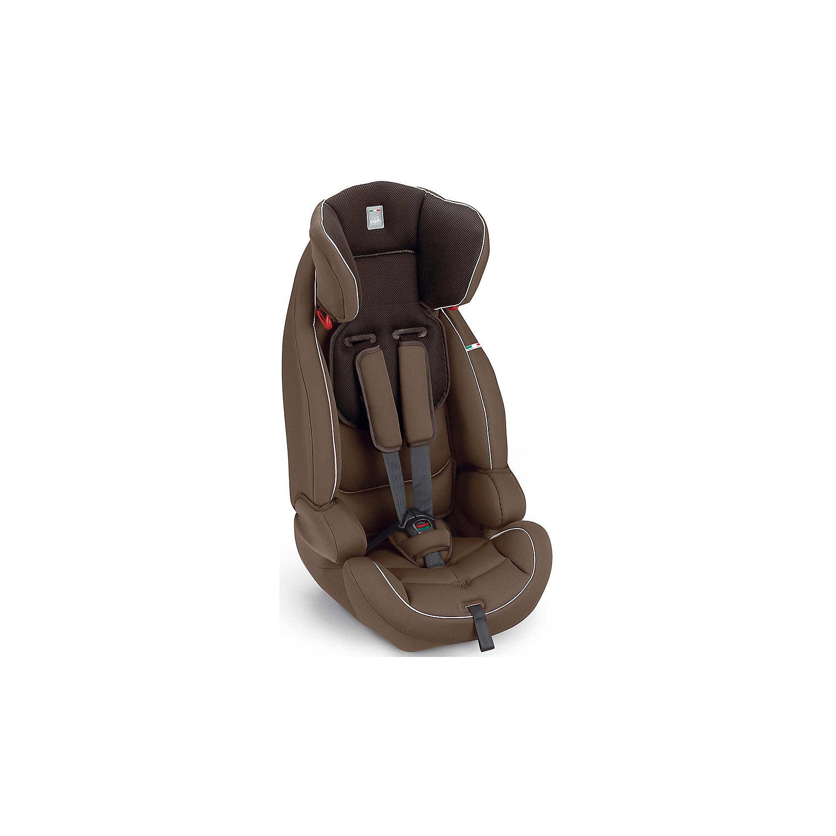 Автокресло Le Mans, 9-36кг., CAM, шоколадАвтокресло Le Mans, CAM - комфортная надежная модель, которая сделает поездку Вашего ребенка приятной и безопасной. Благодаря особой конструкции автокресло может использоваться в течении длительного времени и охватывает весовые категории детей от 1 года до 12 лет.<br>Комфортное кресло оснащено ортопедической спинкой с регулируемым углом наклона и обеспечивает удобство сидения во время длительных поездок. Подголовник регулируется по высоте в зависимости от роста ребенка. Для малышей предусмотрен мягкий анатомический вкладыш.<br>Регулируемые 5-точечные ремни безопасности с мягкими плечевыми накладками надежно удерживают ребенка в кресле. Противоударный каркас и усиленная боковая защита уберегут ребёнка от серьезных травм.  <br><br>Автокресло легко и надежно устанавливается на заднее сиденье автомобиля по ходу движения. Для детей постарше (2-й группы, 15 -36 кг.) ремни автокресла можно снять и использовать штатные ремни автомобиля, которые фиксируются специальными ограничителями. Для детей 3-й<br>группы (весом 22-36 кг.) съемная спинка демонтируется и сиденье используется в качестве бустера. Кресло изготовлено из высококачественных материалов, износостойкие тканевые чехлы снимаются для чистки или стирки при температуре 30 градусов. Соответствует европейскому<br>стандарту безопасности ECE R44/04. Рассчитано на детей от 1 года до 12 лет, весом 9-36 кг.<br><br><br>Дополнительная информация: <br><br>- Цвет: шоколад.<br>- Вес ребенка: 9-36 кг. (1-12 лет).<br>- Группа 1-2-3.<br>- Материал: пластик, полиэстер. <br>- Размеры кресла: 45 x 43 x 75 см. <br>- Вес: 6,4 кг.<br><br>Автокресло Le Mans, 9-36 кг., CAM, шоколад, можно купить в нашем интернет-магазине.<br><br>Ширина мм: 465<br>Глубина мм: 460<br>Высота мм: 815<br>Вес г: 5500<br>Возраст от месяцев: 6<br>Возраст до месяцев: 144<br>Пол: Унисекс<br>Возраст: Детский<br>SKU: 4761365