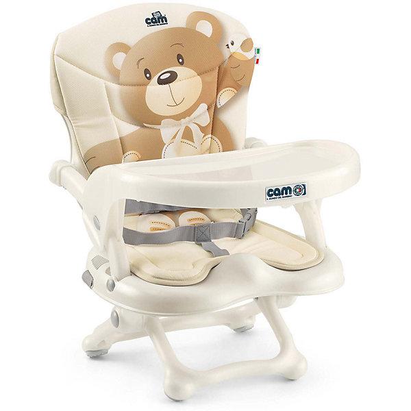 Стульчик для кормления Smarty Pop, CAM, бежевый с медвежонкомСтульчики для кормления с 6 месяцев<br>Smarty Pop - переносной стульчик для кормления, идеально подходящий для активных и мобильных родителей! Модель оснащена уникальным механизмом фиксации, благодаря чему прочно и надежно крепится на любом стуле. Smarty Pop регулируется по высоте в 4 позициях в зависимости от роста ребенка, имеет пластиковый столик для малышей, которые еще только учатся есть. Удобное мягкое сиденье эргономичной формы оснащено ремнями безопасности. Стульчик имеет противоскользящие упоры, гарантирующие безопасность даже самым активным детям. Модель легко и компактно складывается, в сложенном виде занимает мало места. Ее удобно брать с собой на прогулки, путешествия, в гости. <br><br>Дополнительная информация:<br><br>- Материал: пластик, текстиль.<br>- Размер в разложенном виде: 37x42x50 см.<br>- Размер в сложенном виде: 37x42x13 см.<br>- Вес: 1,8 кг.<br>- Регулировка по высоте в 4 позициях (от 0 до 18 см).<br>- Противоскользящие упоры.<br>- Удобное сиденье с подлокотниками.<br>- Отсутствуют острые углы и края.<br>- Легко моется.<br>- Быстро и компактно складывается. <br> <br>Стульчик для кормления Smarty Pop, CAM, бежевый с медвежонком, можно купить в нашем магазине.<br><br>Ширина мм: 600<br>Глубина мм: 435<br>Высота мм: 377<br>Вес г: 2000<br>Возраст от месяцев: 6<br>Возраст до месяцев: 36<br>Пол: Унисекс<br>Возраст: Детский<br>SKU: 4761371
