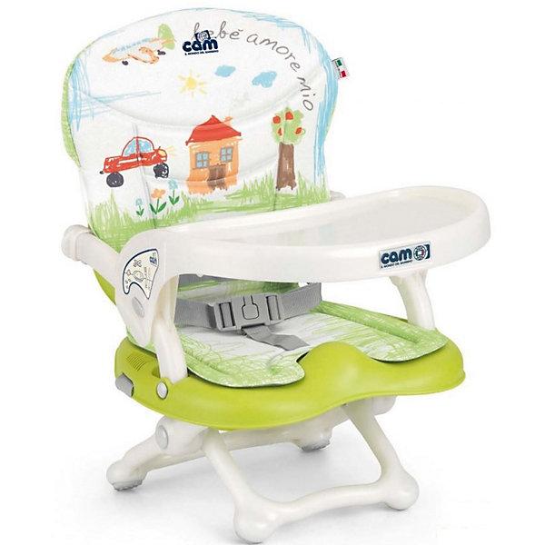 Стульчик для кормления Smarty Pop, CAM, салатовый Bebe amore mioСтульчики для кормления с 6 месяцев<br>Smarty Pop - переносной стульчик для кормления, идеально подходящий для активных и мобильных родителей! Модель оснащена уникальным механизмом фиксации, благодаря чему прочно и надежно крепится на любом стуле. Smarty Pop регулируется по высоте в 4 позициях в зависимости от роста ребенка, имеет пластиковый столик для малышей, которые еще только учатся есть. Удобное мягкое сиденье эргономичной формы оснащено ремнями безопасности. Стульчик имеет противоскользящие упоры, гарантирующие безопасность даже самым активным детям. Модель легко и компактно складывается, в сложенном виде занимает мало места. Ее удобно брать с собой на прогулки, путешествия, в гости. <br><br>Дополнительная информация:<br><br>- Материал: пластик, текстиль.<br>- Размер в разложенном виде: 37x42x50 см.<br>- Размер в сложенном виде: 37x42x13 см.<br>- Вес: 1,8 кг.<br>- Регулировка по высоте в 4 позициях (от 0 до 18 см).<br>- Противоскользящие упоры.<br>- Удобное сиденье с подлокотниками.<br>- Отсутствуют острые углы и края.<br>- Легко моется.<br>- Быстро и компактно складывается. <br> <br>Стульчик для кормления Smarty Pop, CAM, салатовый Bebe amore mio, можно купить в нашем магазине.<br>Ширина мм: 600; Глубина мм: 435; Высота мм: 377; Вес г: 2000; Возраст от месяцев: 6; Возраст до месяцев: 36; Пол: Унисекс; Возраст: Детский; SKU: 4761372;