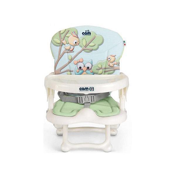 Стульчик для кормления Smarty Pop, CAM, с совамиСтульчики для кормления с 6 месяцев<br>Удобный и компактный стульчик, Smarty Pop, позволит с комфортом покормить малыша в любых условиях и любом месте. Он имеет оригинальную конструкцию, которая отличает его от стандартных моделей других стульчиков для кормления. Детский стульчик Smarty Pop может<br>стоять самостоятельно или крепится на обычный стул или на кресло с помощью внешних ремней фиксации и распорки. Надежный механизм крепления и устойчивое антискользящее основание исключают возможность его падения. Широкое и эргономичное сиденье оснащено съемным мягким вкладышем. Спинка не регулируется. Ребенок надежно удерживается на стуле регулируемыми 3-точечными ремнями безопасности. Высота стула регулируется в 4 положениях, от 0 до 18 см. от сиденья обычного стула. <br><br>Стульчик оснащен широким, регулируемым в четырех позициях подносом. Для детей постарше стул можно использовать без столика для кормления, придвинув его к столу для взрослых. Обивка стула легко снимается для чистки и стирки при температуре 30 градусов. Стульчик<br>компактно складывается, занимает мало места и идеально подходит для поездок в автомобиле и путешествий. В комплект входит удобная сумка для транспортировки. Подходит для детей в возрасте от 6 месяцев до 3 лет.<br><br><br>Дополнительная информация:<br><br>- Цвет: с совами.<br>- Материал: пластик, текстиль.<br>- Размер в разложенном состоянии: 37 х 42 х 50 см. <br>- Размер в сложенном состоянии: 37 х 42 х 13 см. <br>- Вес: 1,8 кг.<br><br>Стульчик для кормления Smarty Pop, CAM, с совами, можно купить в нашем интернет-магазине.<br><br>Ширина мм: 600<br>Глубина мм: 435<br>Высота мм: 377<br>Вес г: 2000<br>Возраст от месяцев: 6<br>Возраст до месяцев: 36<br>Пол: Унисекс<br>Возраст: Детский<br>SKU: 4761373