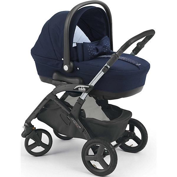 Коляска 3 в 1 CAM Dinamico Elite Up, синийКоляски 3 в 1<br>Коляска 3 в 1 Dinamico Elite Up, CAM - современная модульная коляска, которая обеспечит максимальный комфорт и безопасность Вашему малышу. Коляска состоит из прилагающихся к шасси прогулочного блока, люльки для новорожденного и автокресла-переноски и подходит для<br>детей от рождения до 3 лет. Люлька из пластика предназначена для детей от рождения до 6 месяцев. Легко устанавливается на шасси по ходу и против хода движения. Наклон подголовника регулируется в 4 положениях при помощи специального рычага (максимально поднимается<br>до 45°). Внутри люльки - приятная на ощупь внутренняя отделка и мягкий съемный матрасик. На дне имеются специальные отверстия для проветривания. Удобная ручка-переноска с нескользящим покрытием. Благодаря специальным полозьям на дне люльку можно использовать<br>отдельно как качалку для ребенка.<br><br>Прогулочный блок подходит для детей от 6 месяцев до 3-х лет. Может устанавливаться в положениях лицом к маме или лицом к дороге. Блок оснащен комфортным утепленным сиденьем с регулируемой в 4 положениях спинкой (наклон до 160°). Регулируемая подножка создает дополнительный комфорт. Детское автокресло предназначено для детей весом от  0 до 13 кг.<br>Комфортное сиденье с анатомической подушкой оснащено широкими 5-точечными ремнями с надёжным замком безопасности, имеется система защиты от боковых ударов. Для переноски имеется удобная эргономичная ручка. Кресло крепится в машине штатными ремнями безопасности против хода движения на заднем сиденье.<br><br>Дополнительная информация:<br><br>- В комплекте: шасси, люлька для новорожденного, автокресло-переноска группы 0+, прогулочный блок, накидка на ножки, сумка для мамы, дождевик.<br>- Цвет: синий.<br>- Размер коляски в разложенном состоянии (шасси): 102 x 102 х 58 см.<br>- Размер коляски в сложенном состоянии (шасси): 39 x 86 x 58 см.<br>- Размер люльки: 79 х 35 х 22 см.<br>- Вес люльки: 4,9 кг. <br>- Размер прогулочной коляски: 58 х 93 х 106 