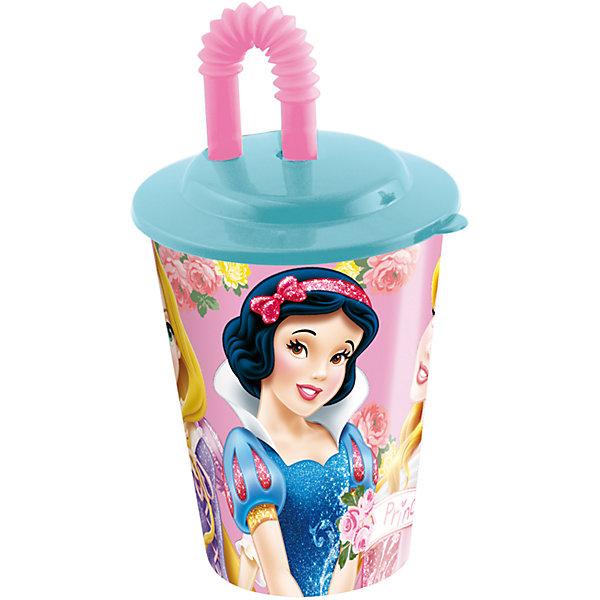 Стакан с крышкой и трубочкой, 450 мл, Принцессы ДиснейДетская посуда<br>Стакан с изображением любимых принцесс обязательно понравится девочкам. Пить из него приятнее вдвойне! Стакан имеет удобную крышку, исключающую проливание и гибкую трубочку, выполнен из высококачественного экологичного пищевого пластика. Пластиковая посуда - практичная и безопасная, ее можно брать с собой куда угодно, не беспокоясь, что она может разбиться и поранить ребенка.   <br><br>Дополнительная информация:<br><br>- Материал: пластик.<br>- Объем: 450 мл.<br><br>Стакан с крышкой и трубочкой, 450 мл, Принцессы Дисней (Disney Princess), можно купить в нашем магазине.<br><br>Ширина мм: 95<br>Глубина мм: 95<br>Высота мм: 180<br>Вес г: 75<br>Возраст от месяцев: 36<br>Возраст до месяцев: 144<br>Пол: Женский<br>Возраст: Детский<br>SKU: 4761391