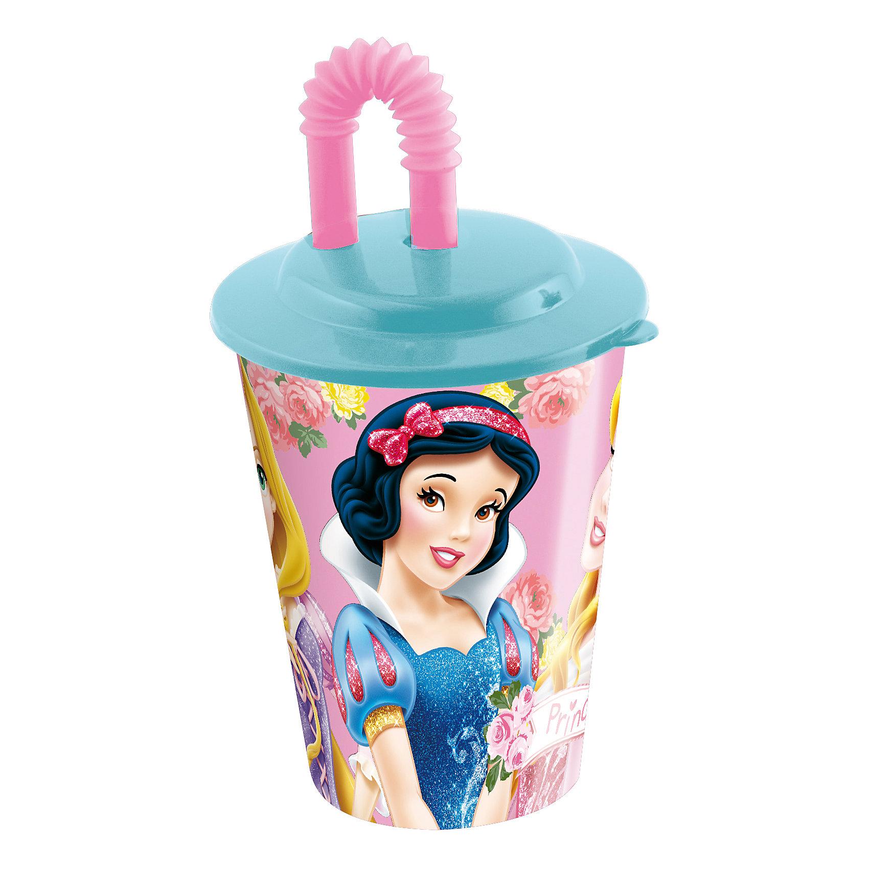 Стакан с крышкой и трубочкой, 450 мл, Принцессы ДиснейБутылки для воды и бутербродницы<br>Стакан с изображением любимых принцесс обязательно понравится девочкам. Пить из него приятнее вдвойне! Стакан имеет удобную крышку, исключающую проливание и гибкую трубочку, выполнен из высококачественного экологичного пищевого пластика. Пластиковая посуда - практичная и безопасная, ее можно брать с собой куда угодно, не беспокоясь, что она может разбиться и поранить ребенка.   <br><br>Дополнительная информация:<br><br>- Материал: пластик.<br>- Объем: 450 мл.<br><br>Стакан с крышкой и трубочкой, 450 мл, Принцессы Дисней (Disney Princess), можно купить в нашем магазине.<br><br>Ширина мм: 95<br>Глубина мм: 95<br>Высота мм: 180<br>Вес г: 75<br>Возраст от месяцев: 36<br>Возраст до месяцев: 144<br>Пол: Женский<br>Возраст: Детский<br>SKU: 4761391