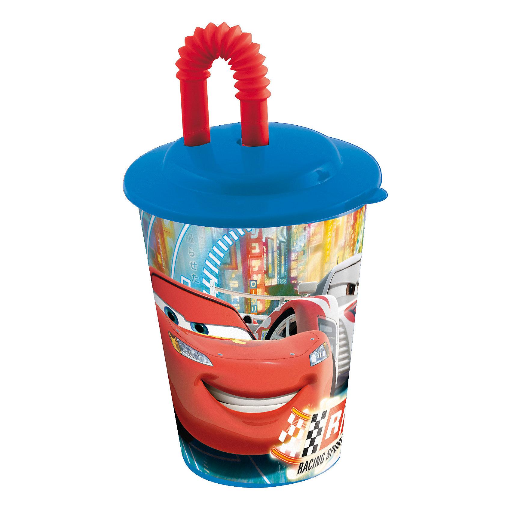 Стакан с крышкой и трубочкой, 450 мл, ТачкиТачки<br>Стакан с изображением любимых героев обязательно понравится детям. Пить из него приятнее вдвойне! Стакан имеет удобную крышку, исключающую проливание и гибкую трубочку, выполнен из высококачественного экологичного пищевого пластика. Пластиковая посуда - практичная и безопасная, ее можно брать с собой куда угодно, не беспокоясь, что она может разбиться и поранить ребенка.   <br><br>Дополнительная информация:<br><br>- Материал: пластик.<br>- Объем: 450 мл.<br><br>Стакан с крышкой и трубочкой, 450 мл, Тачки (Cars), можно купить в нашем магазине.<br><br>Ширина мм: 95<br>Глубина мм: 95<br>Высота мм: 180<br>Вес г: 75<br>Возраст от месяцев: 36<br>Возраст до месяцев: 144<br>Пол: Мужской<br>Возраст: Детский<br>SKU: 4761393