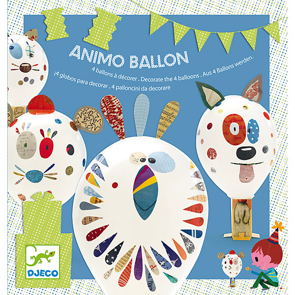 Набор для творчества Надувные шарики, DJECOБумага<br>С помощью творческого набора ребенок может празднично украсить свою комнату. Нужно лишь надуть шарики, прикрепить их к подставкам, на которых изображены забавные тельца животных, и декорировать шарики с помощью разноцветных наклеек. Результат получится очень ярким и смешным, такое оригинальное оформление понравится и родителям.<br><br><br>В комплекте: 4 шарика, 4 подставки, наклейки.<br><br>Ширина мм: 215<br>Глубина мм: 30<br>Высота мм: 230<br>Вес г: 140<br>Возраст от месяцев: 36<br>Возраст до месяцев: 1188<br>Пол: Унисекс<br>Возраст: Детский<br>SKU: 4761432