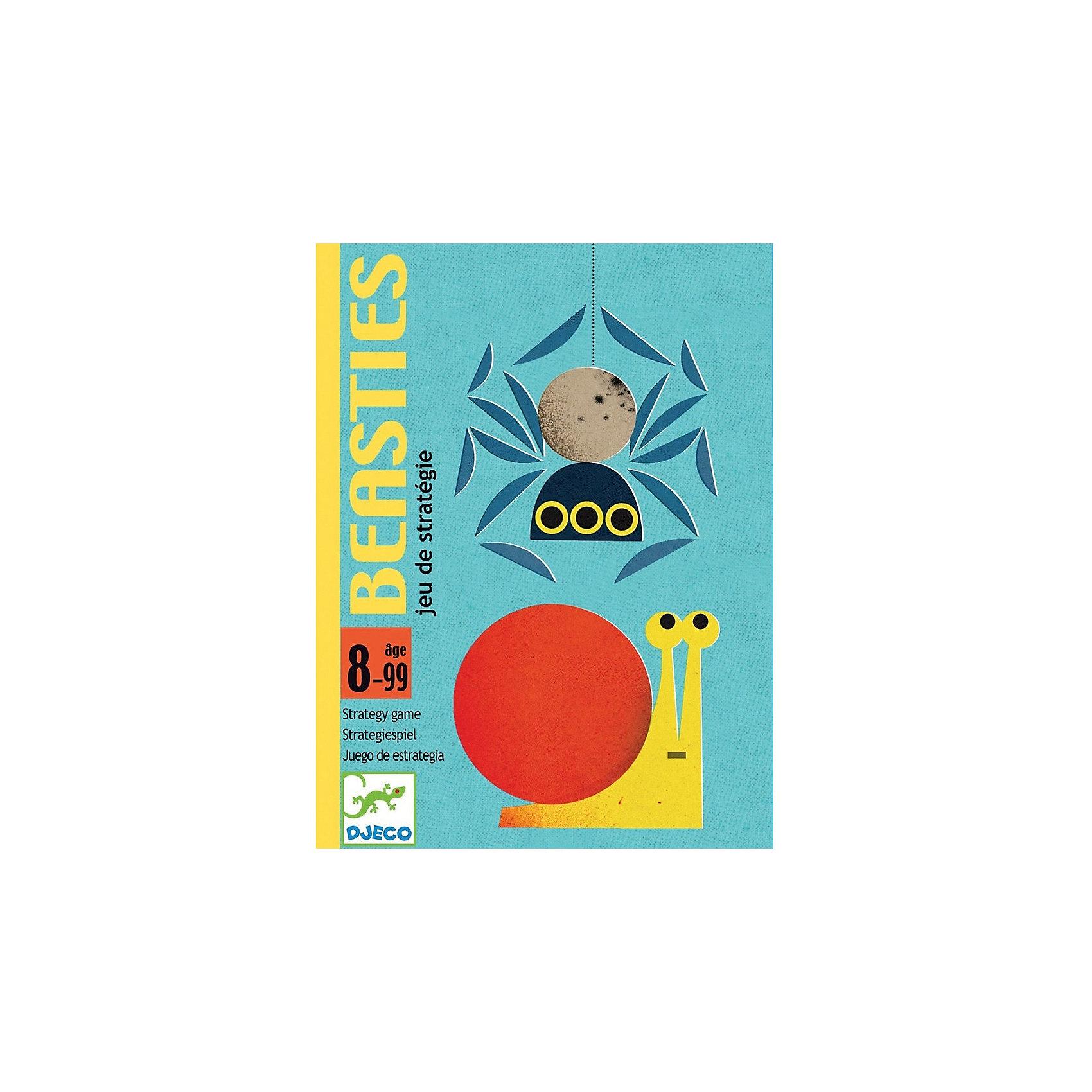 DJECO Карточная игра Насекомые, DJECO игры для малышей djeco детская настольная карточная игра мини семья