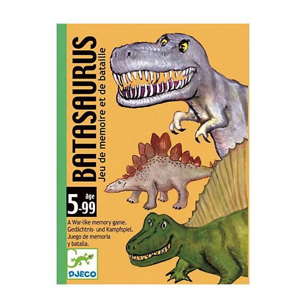 Карточная игра Динозавры, DJECOНастольные игры для всей семьи<br>Настольная карточная игра Динозавры – увлекательная стратегическая игра на внимательность и сообразительность. В наборе: 48 карточек «динозавры» (4 серии по 12 динозавров). Каждому динозавру присвоена определенная стоимость от 1 до 12 (12 - самая сильная карточка, 1 - самая слабая). Цель игры состоит в том, чтобы выиграть как можно больше раундов и заработать как можно больше карточек «динозавров».<br><br>Ширина мм: 90<br>Глубина мм: 120<br>Высота мм: 30<br>Вес г: 260<br>Возраст от месяцев: 36<br>Возраст до месяцев: 1188<br>Пол: Унисекс<br>Возраст: Детский<br>SKU: 4761443